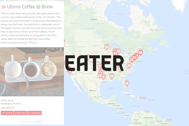 Eater.com //  38 Essential Coffee Shops in America