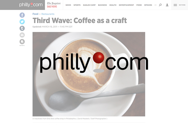 Philadelphia Inquirer // Craig Laban's Guide to Philly coffee