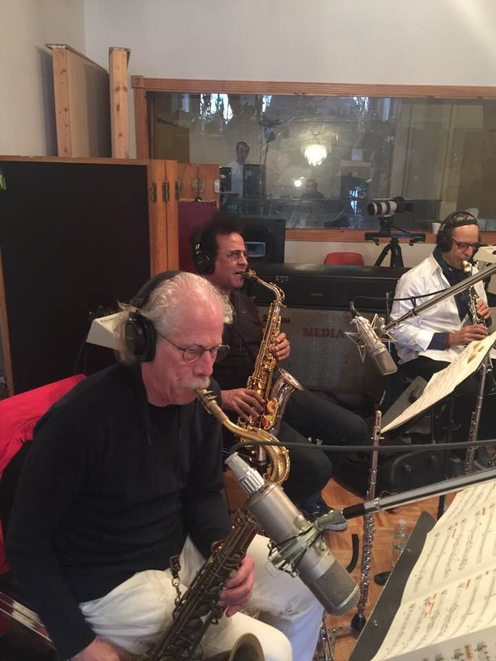 Lou Marini, Alex Foster and Lawrence Feldman in the world's best horn section!