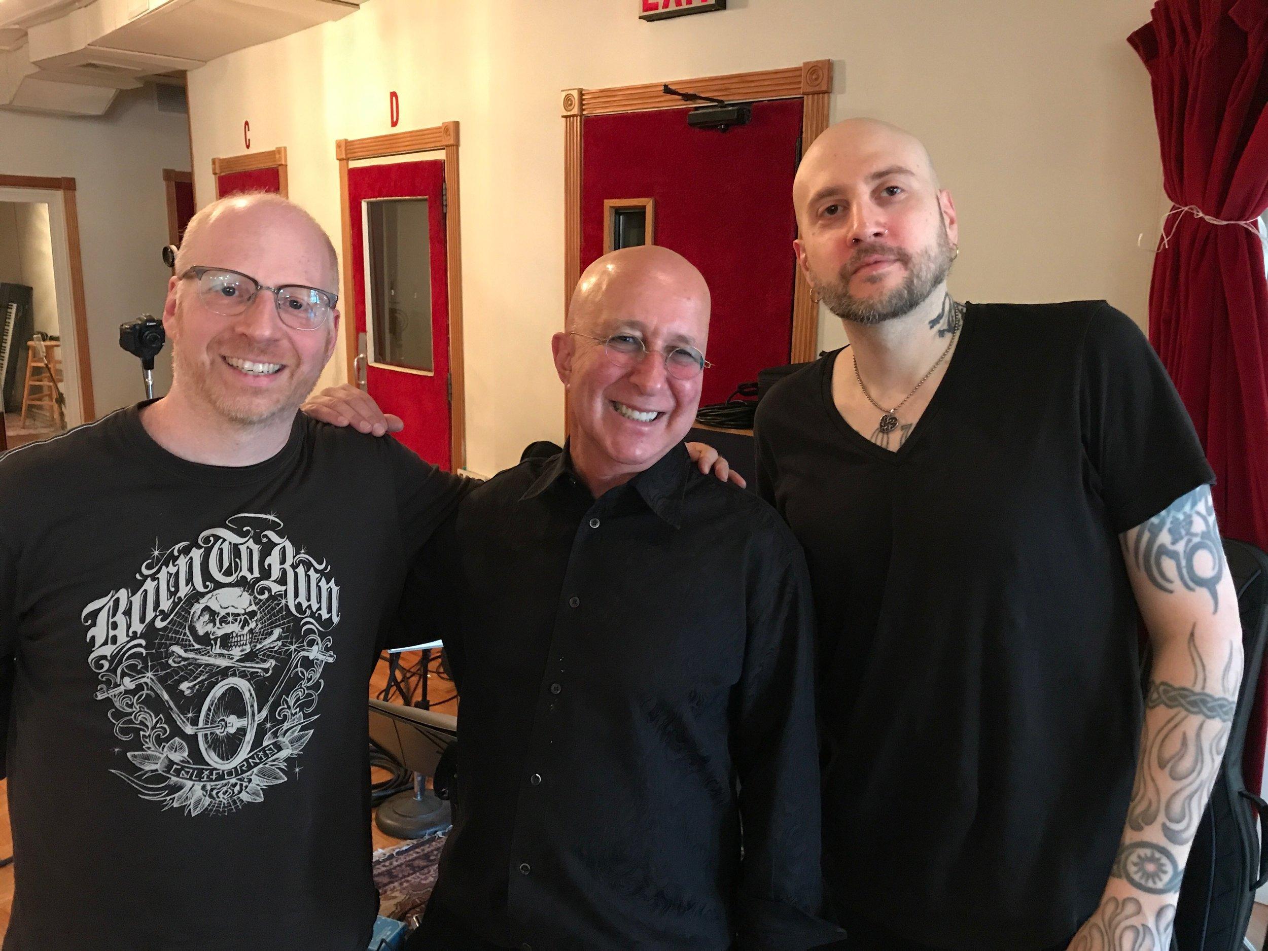 Oz Noy, Paul Shaffer, Stephen Wolf (3 bald jews!)
