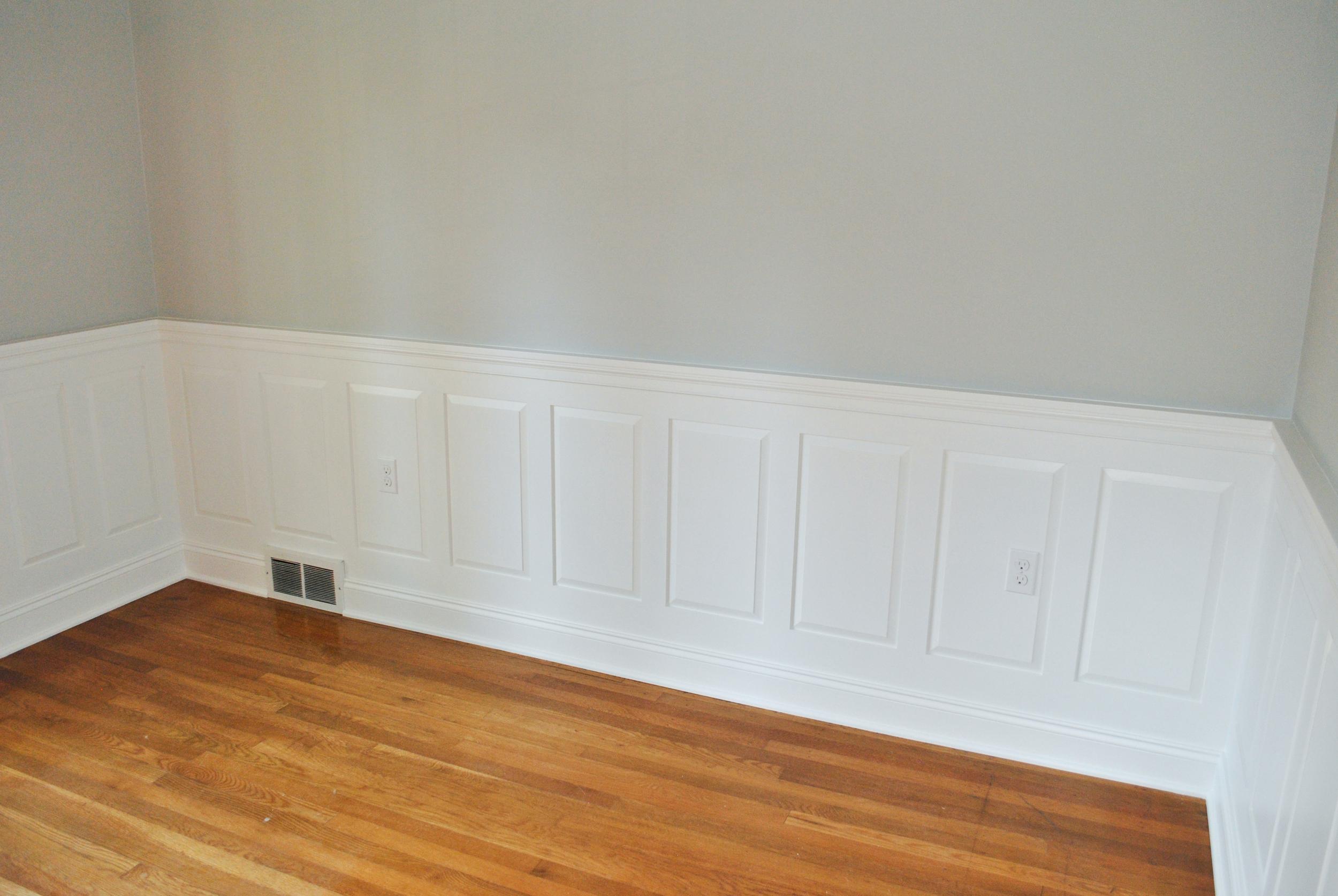 MDF raised panels with poplar cap trim.