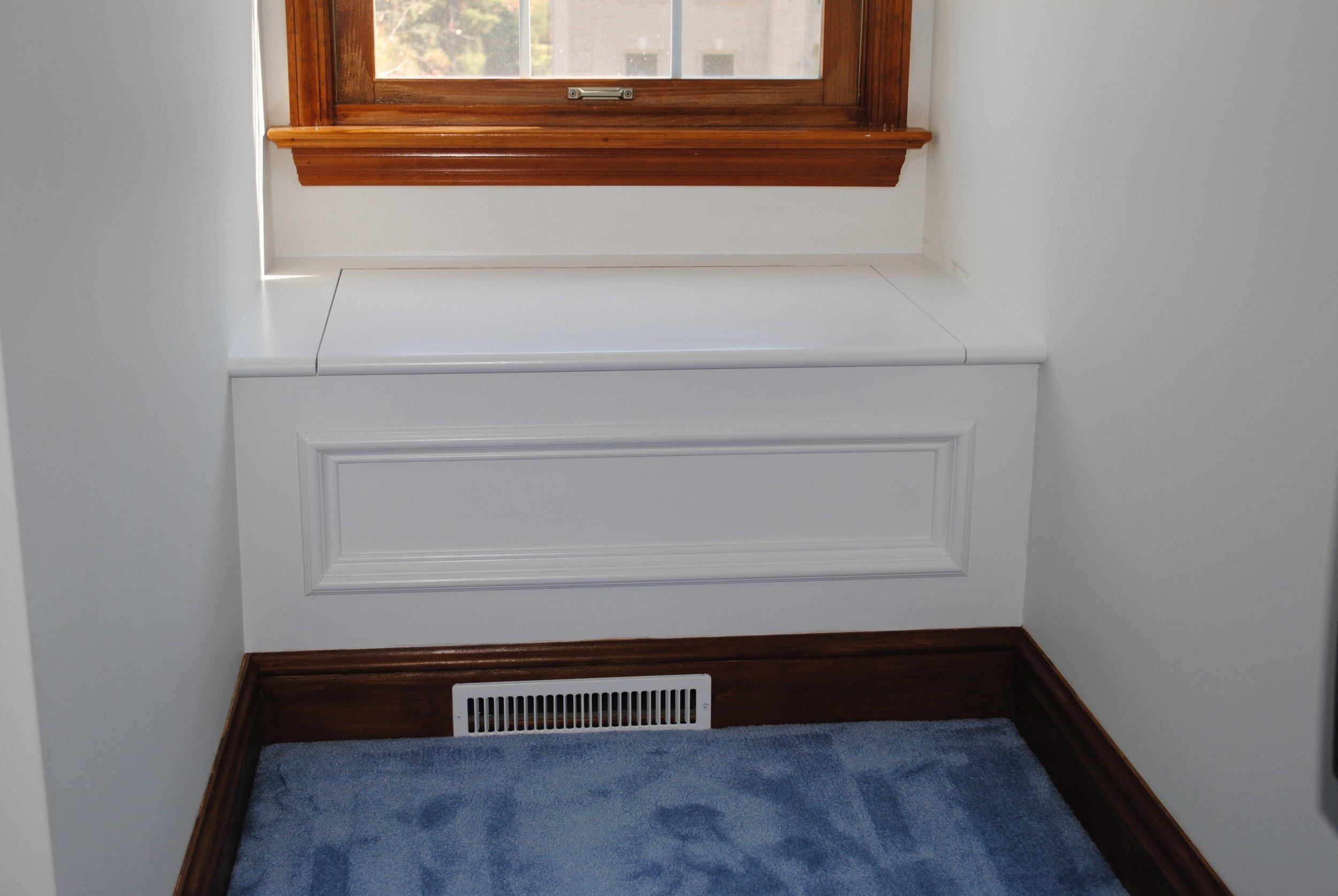 Window seat with storage.