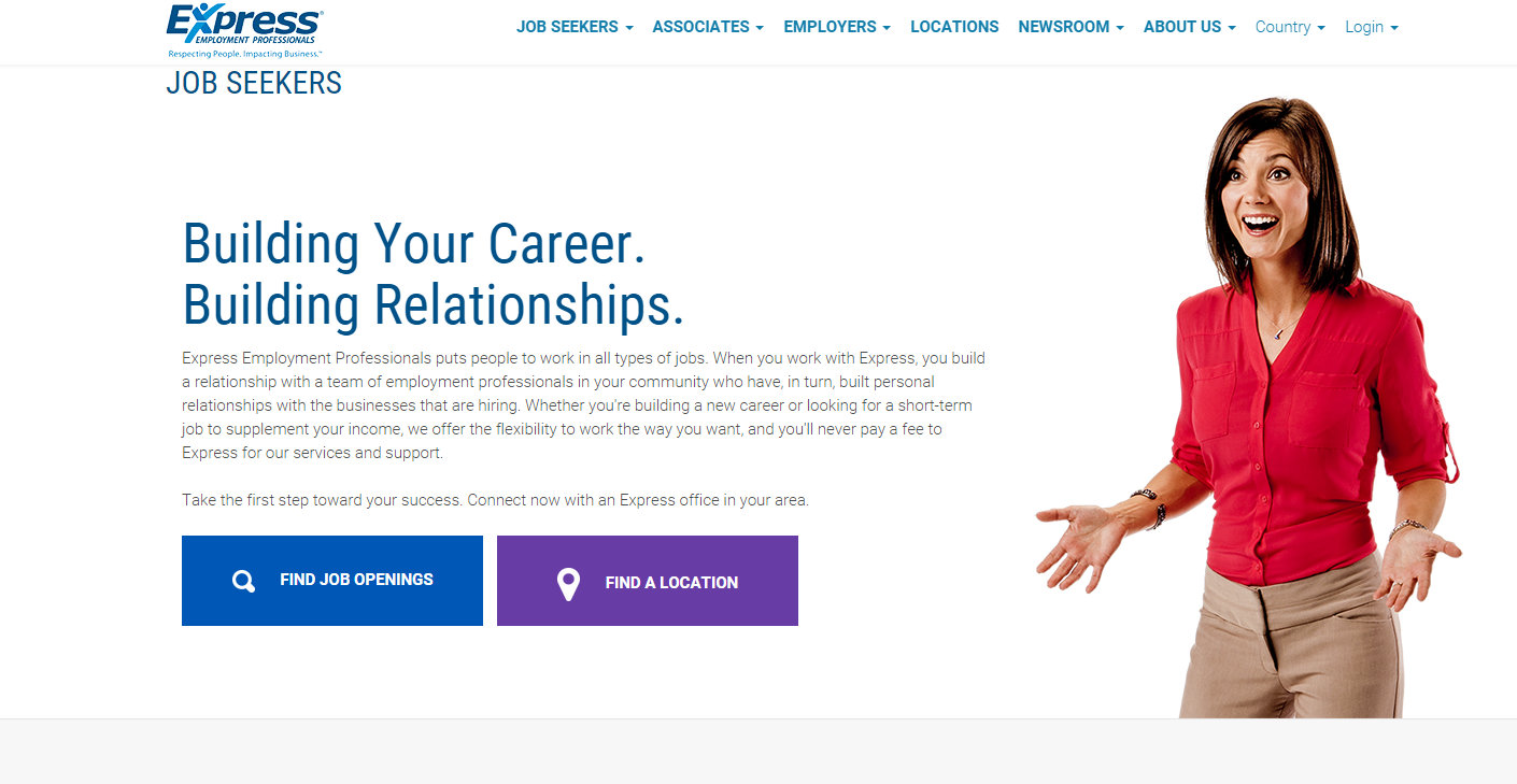 Express Employment Professionals  Website