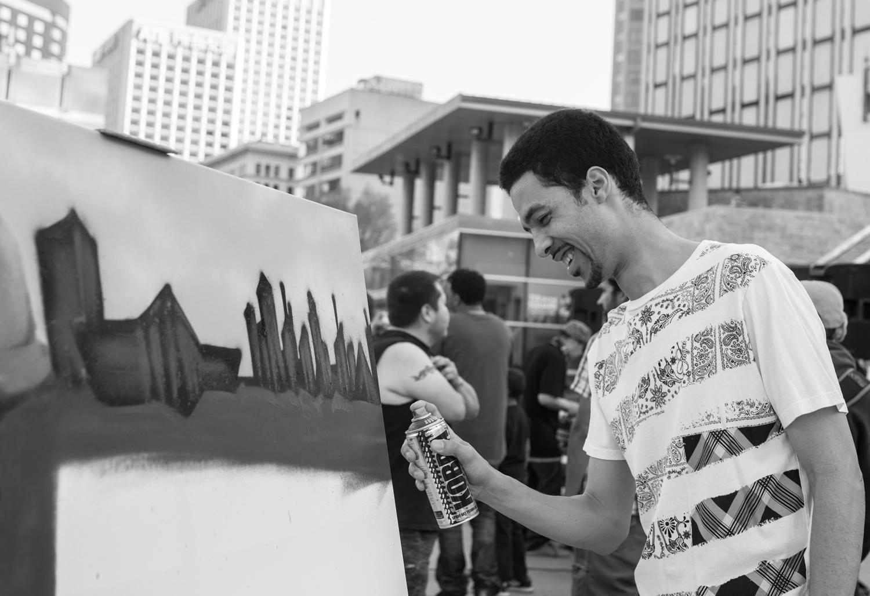 Live Painting at CypherWild |  Photo by Diana Duzbayeva