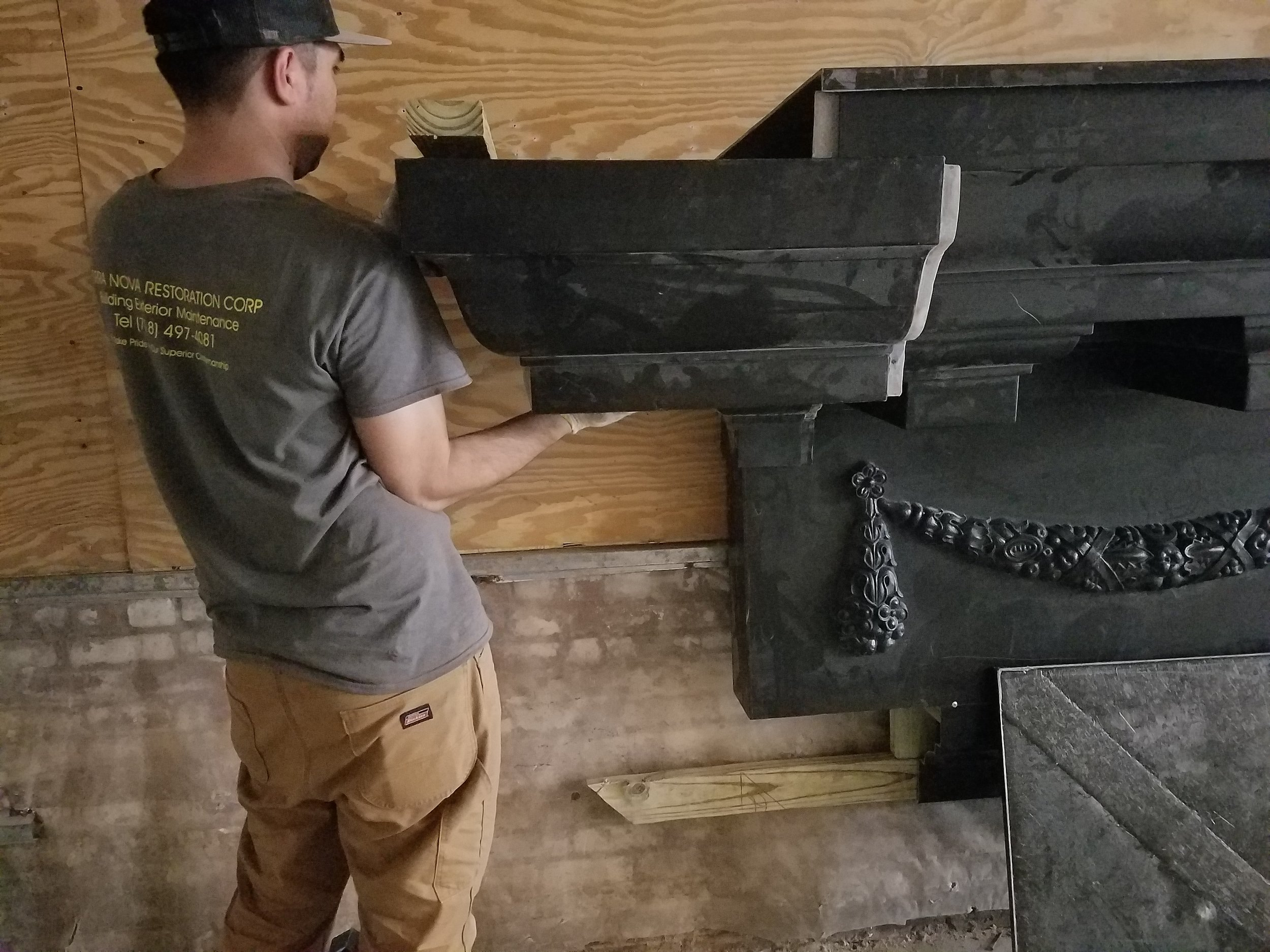 Building Cornice Mock-Up