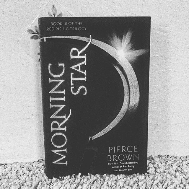 Finally OMG! #Morningstar #piercebrown #redrising #howlers #scifi #illseeyouwhenimdone