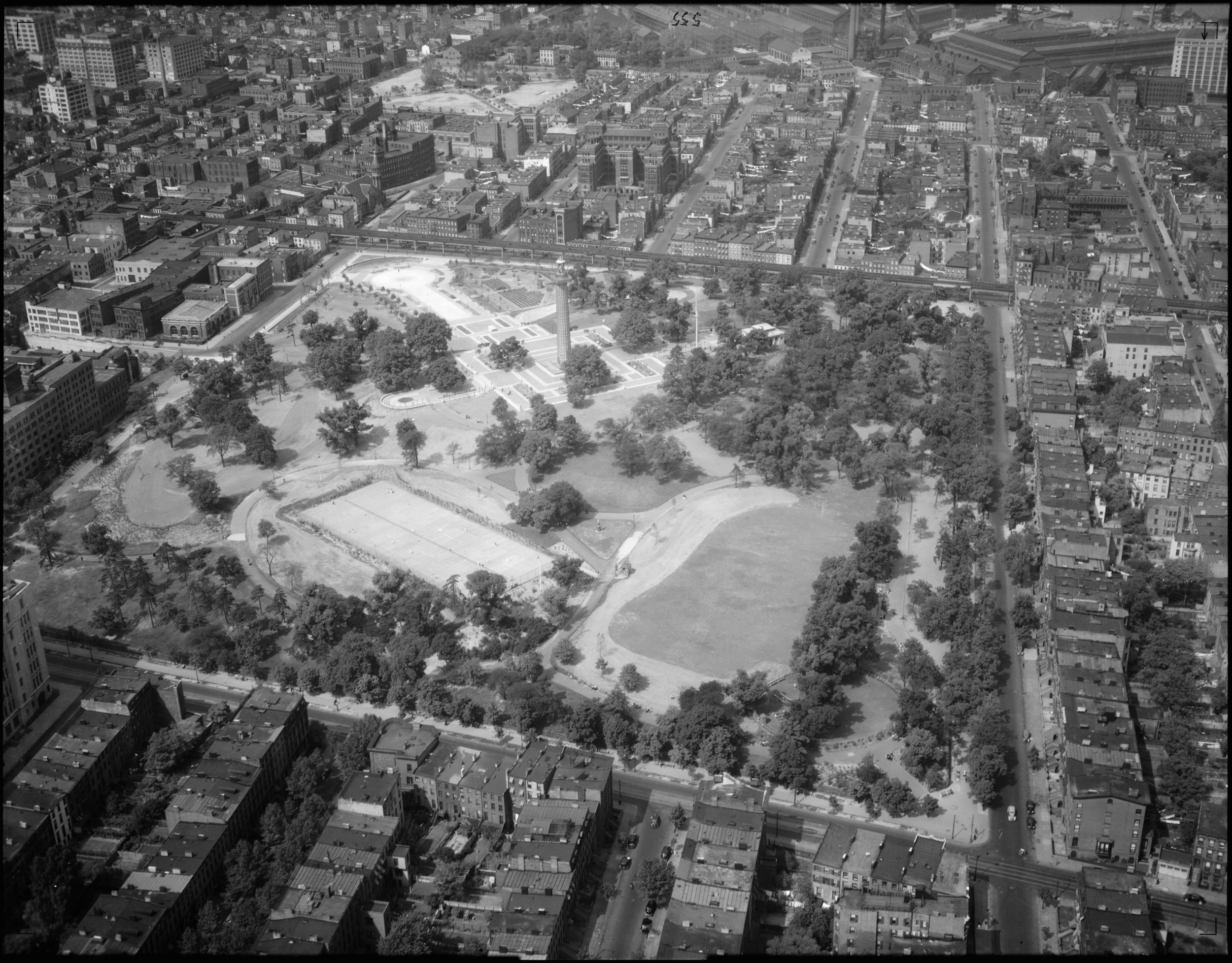 Aerial photo taken on September 8, 1937  Photo from New York City Parks Photo Archive