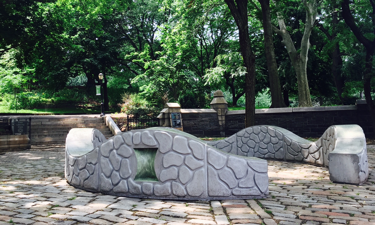 Blythe Cain's Circadia is on display through May 2018 on Myrtle Avenue and Washington Park.