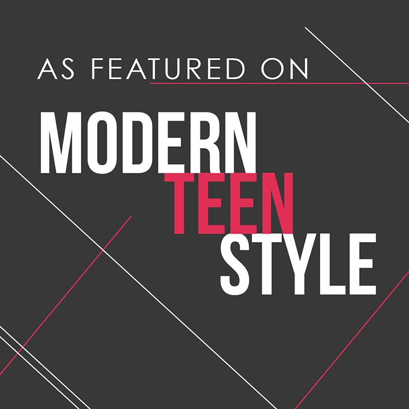 Modern teen style button