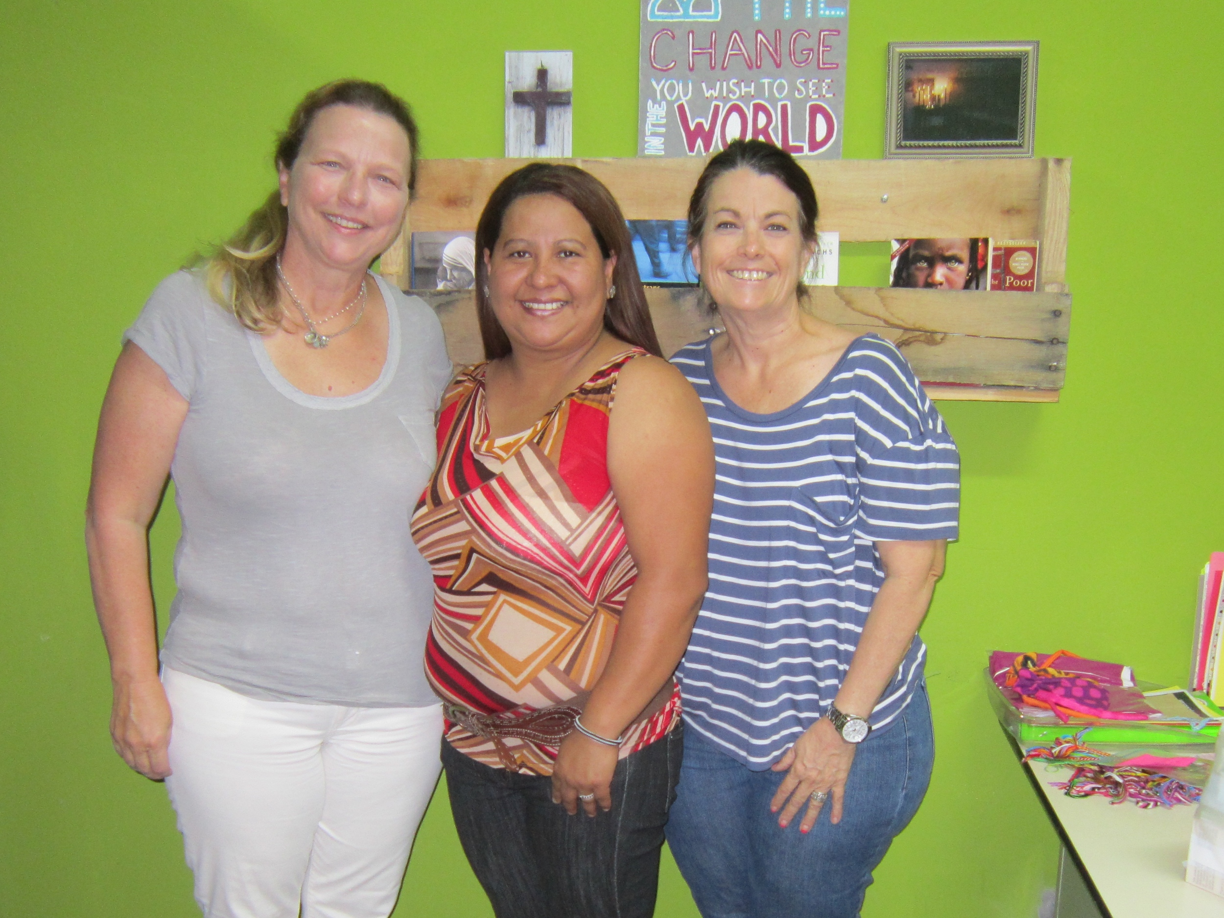 the day she payed her final payment on her first loan with founders janet Hines and Lori Connell 2014