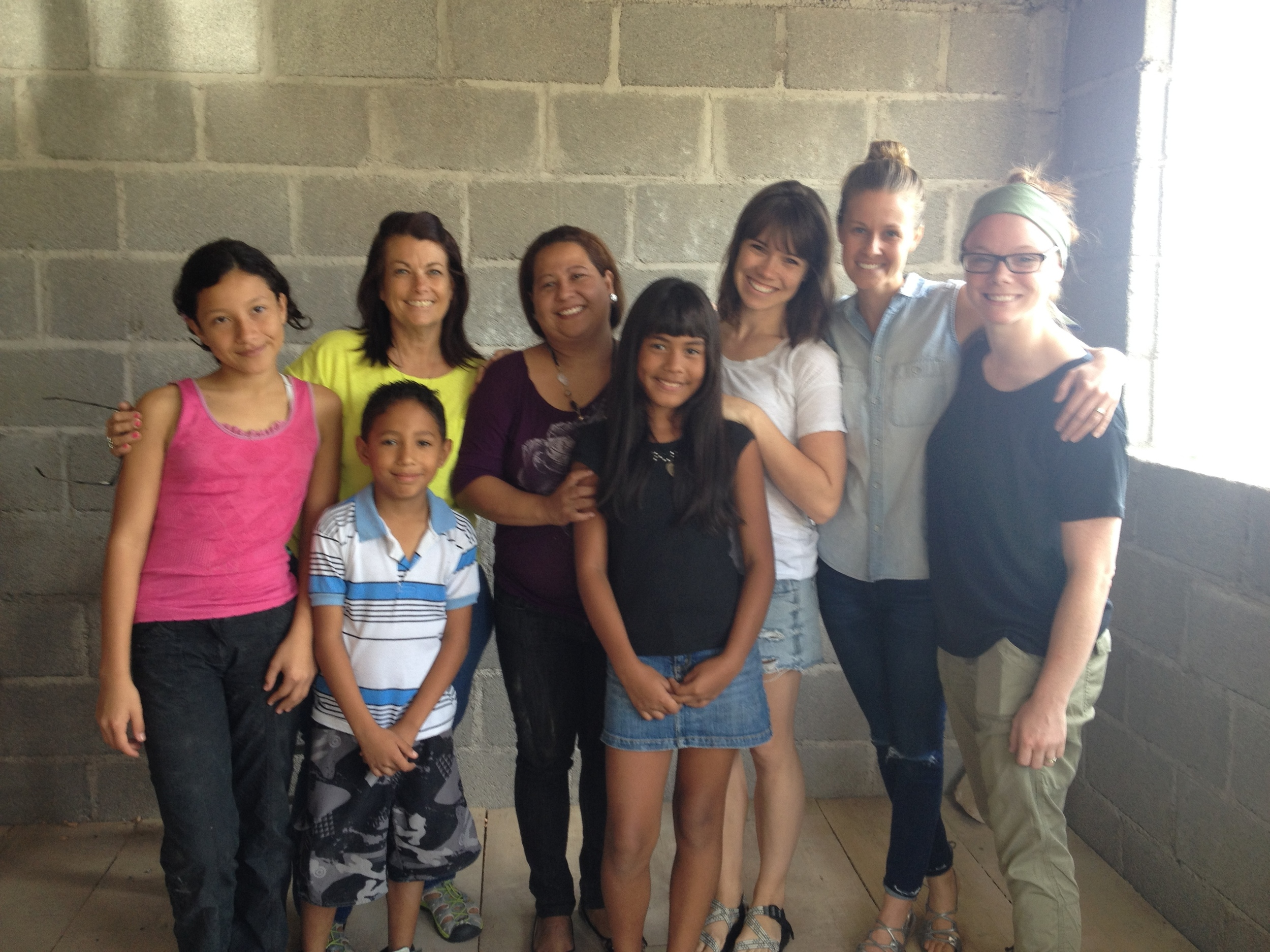 August '14 during a sight visit made by co-founder Lori Connell to see the progress on the salon renovations and sharing Gabriela's story with vistitors