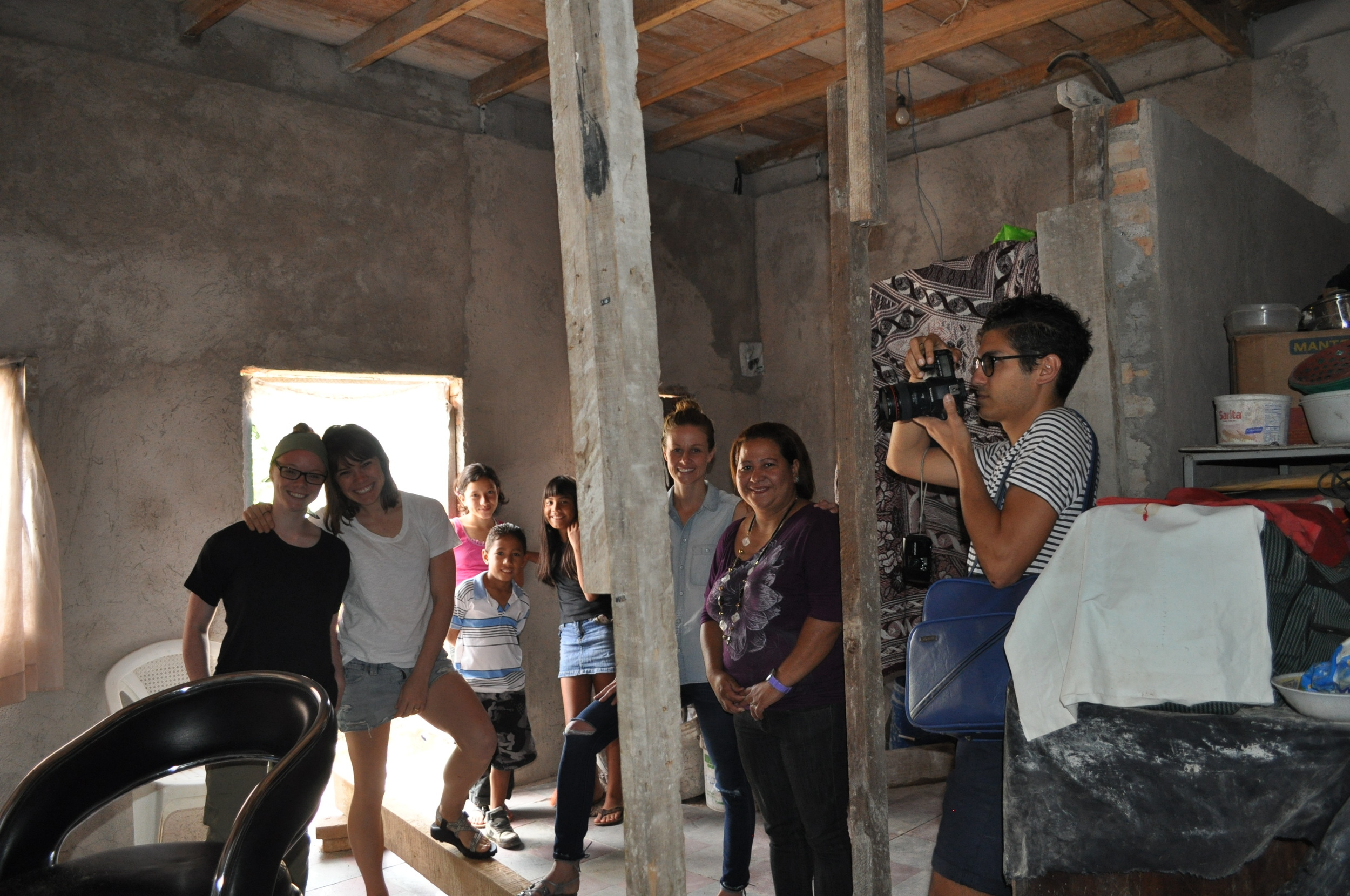 Gabriela proudly sharing her story and explaining her renovations. 2014