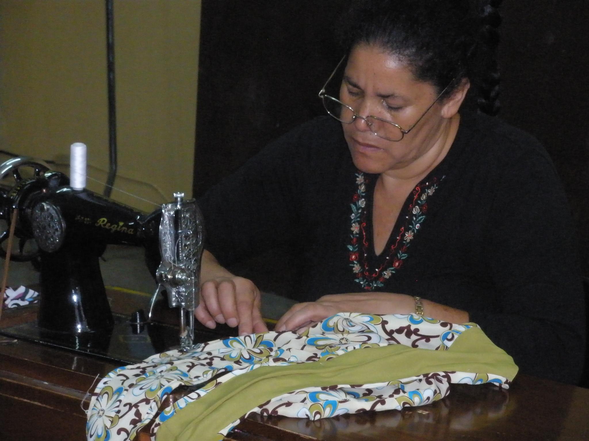 Working on a Mi Esperanza signature Gypsy bag 2008