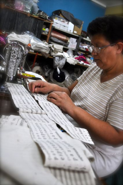 Romelia working on Statement products for Mi Esperanza production 2011