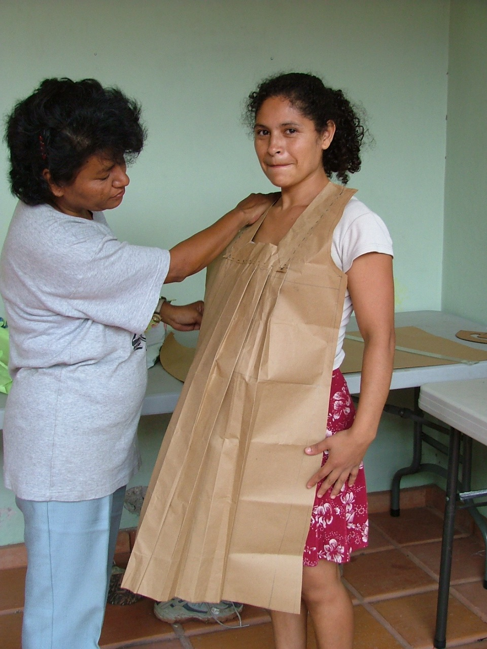 Learning to make patterns in her level one class. 2005