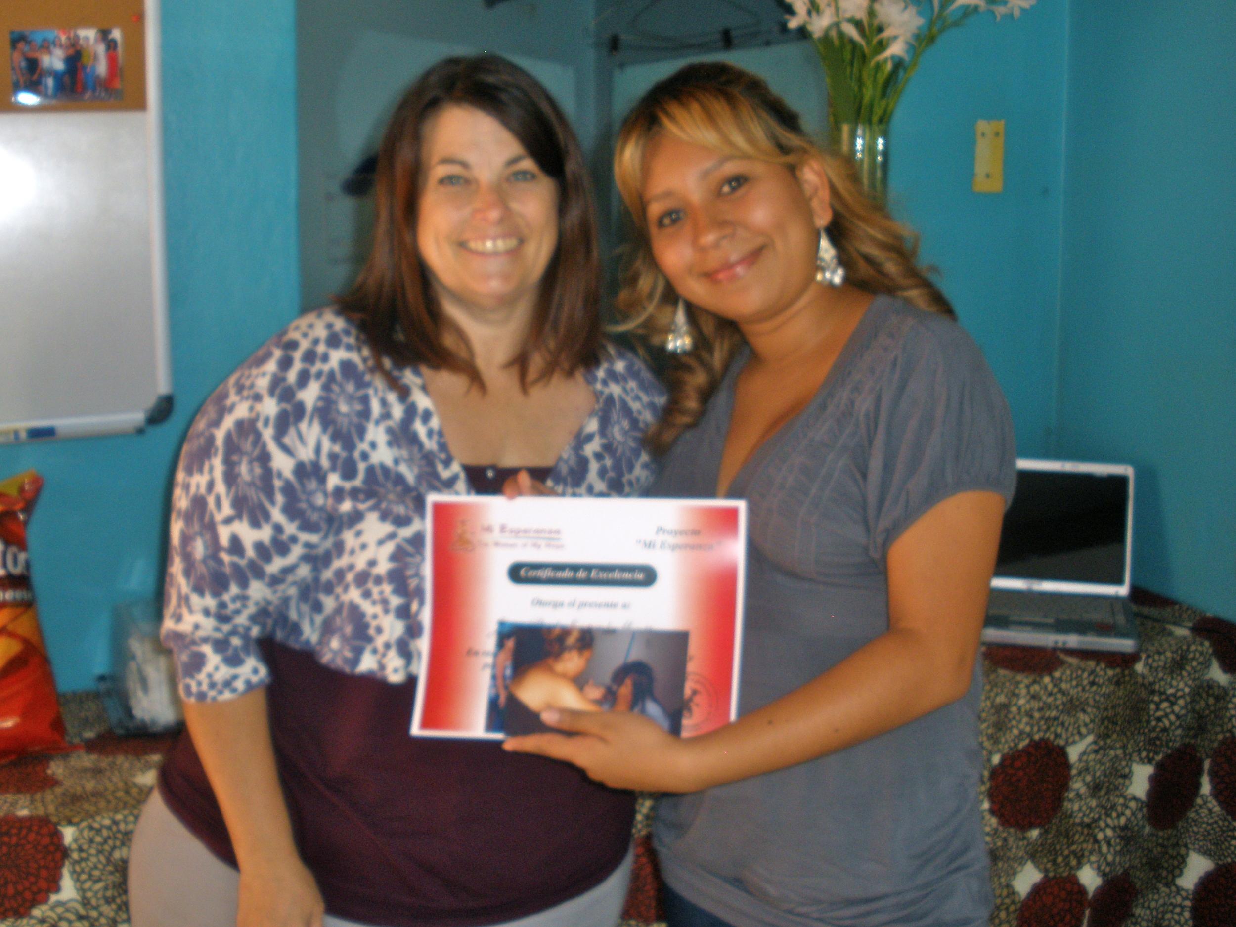 Paola on graduation day