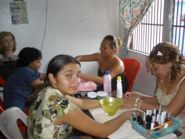 2009 Karen during her social service project while a student at Mi Esperanza
