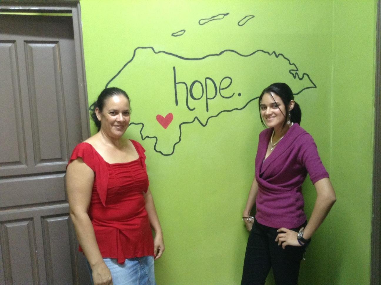 Reyna and Heydie at the Mi Esperanza Center 2014