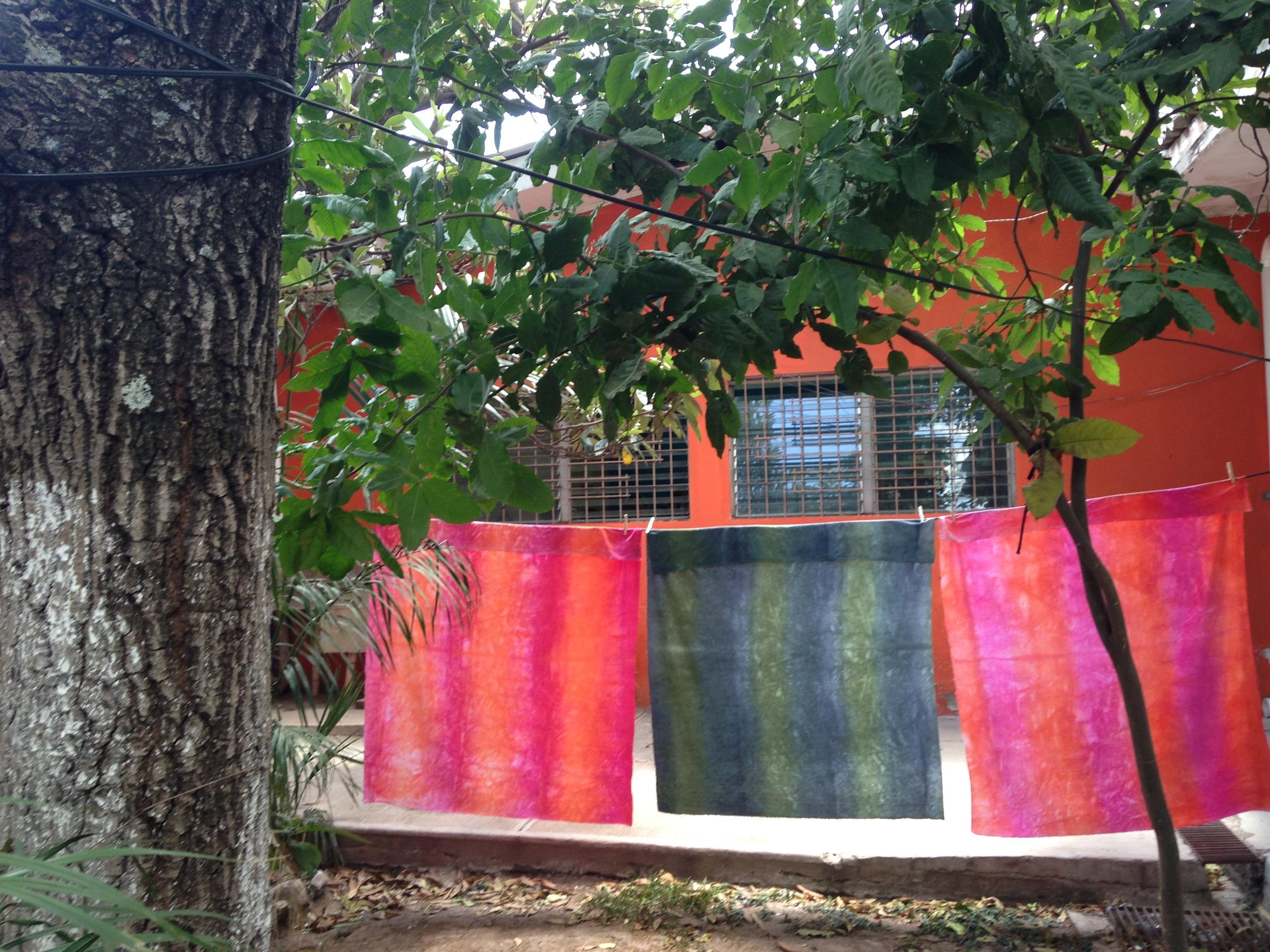 2015 Shibori dyed fabric by Dilcia