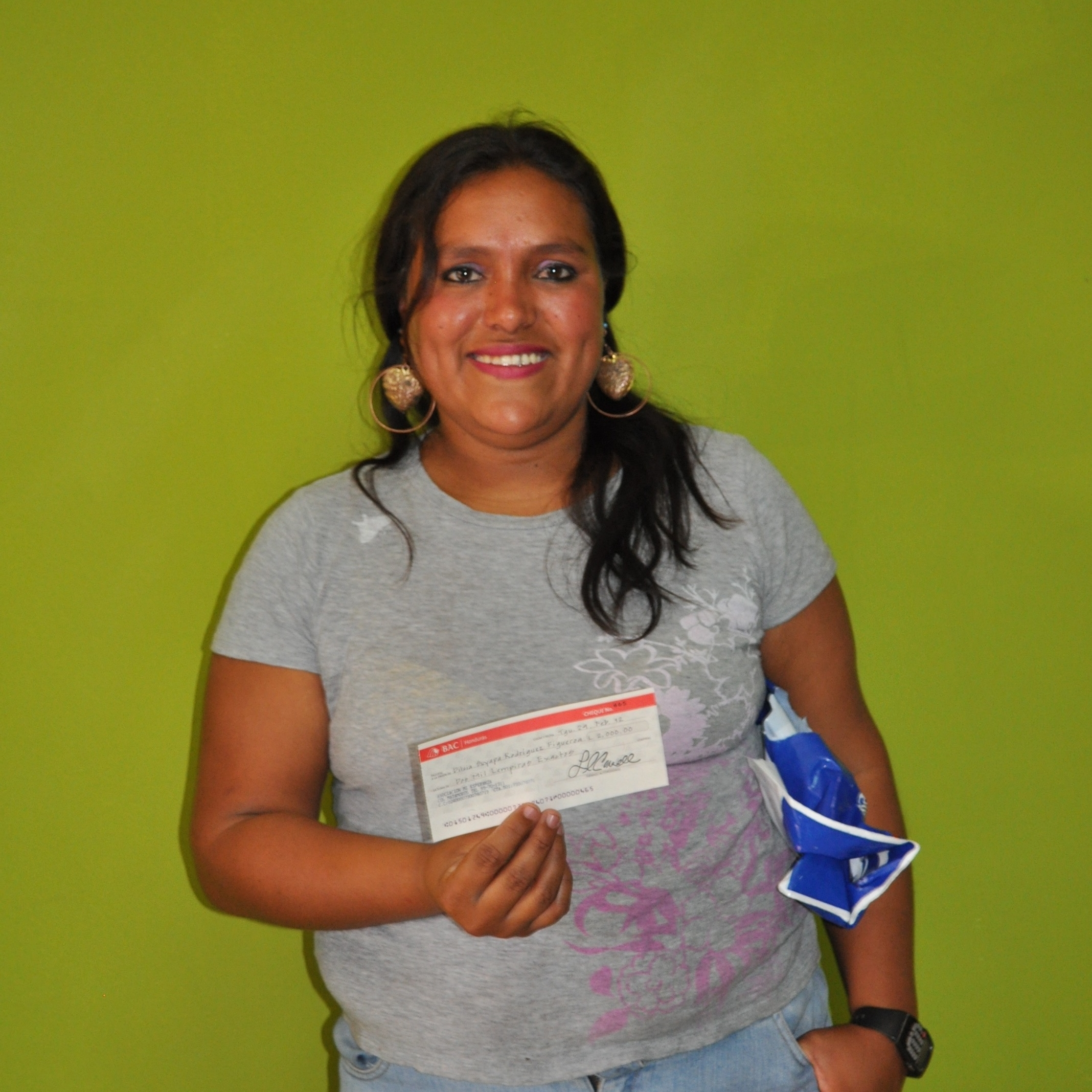 2012  Dilcia with her micro-loan check