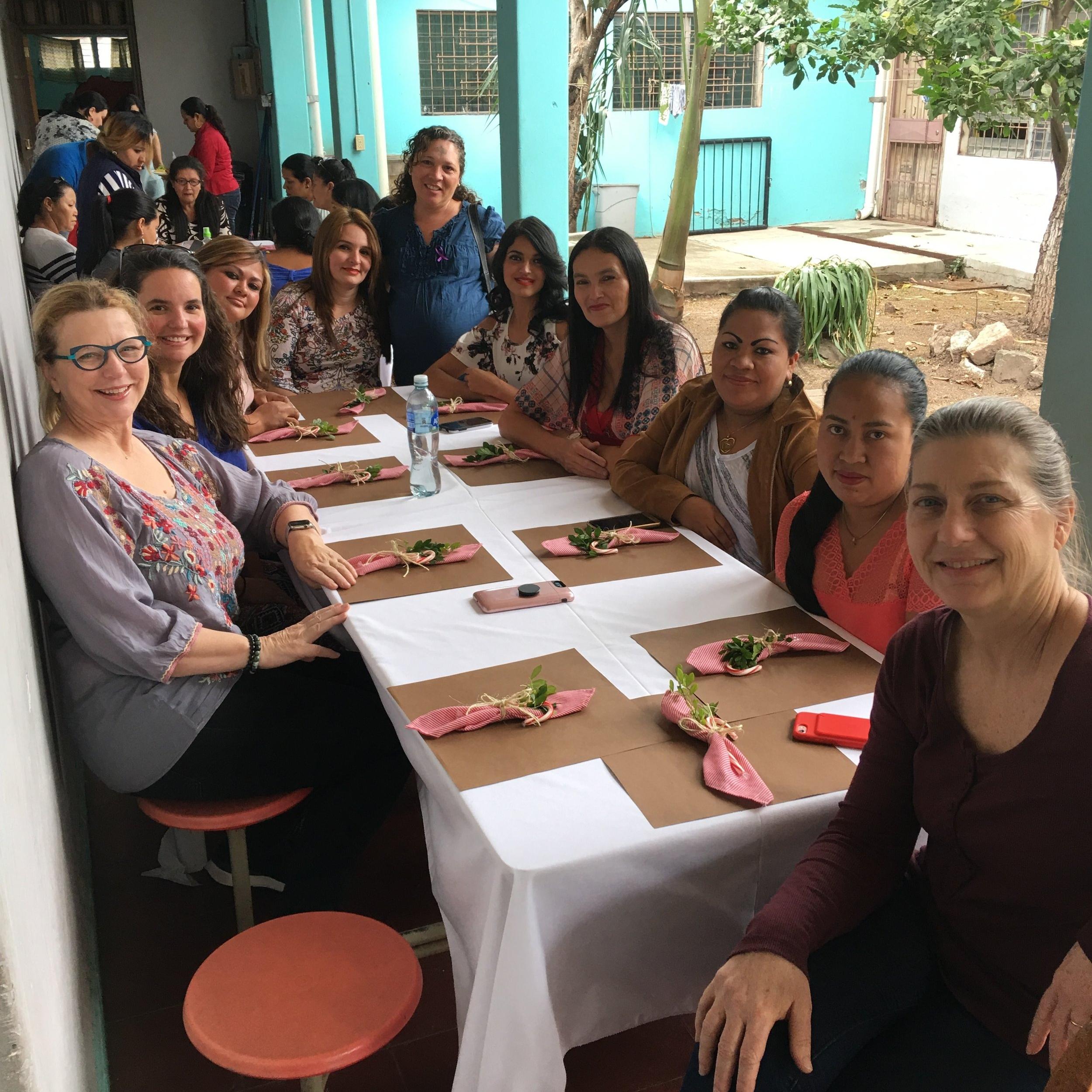 Julie at a gathering at Mi Esperanza, 2018