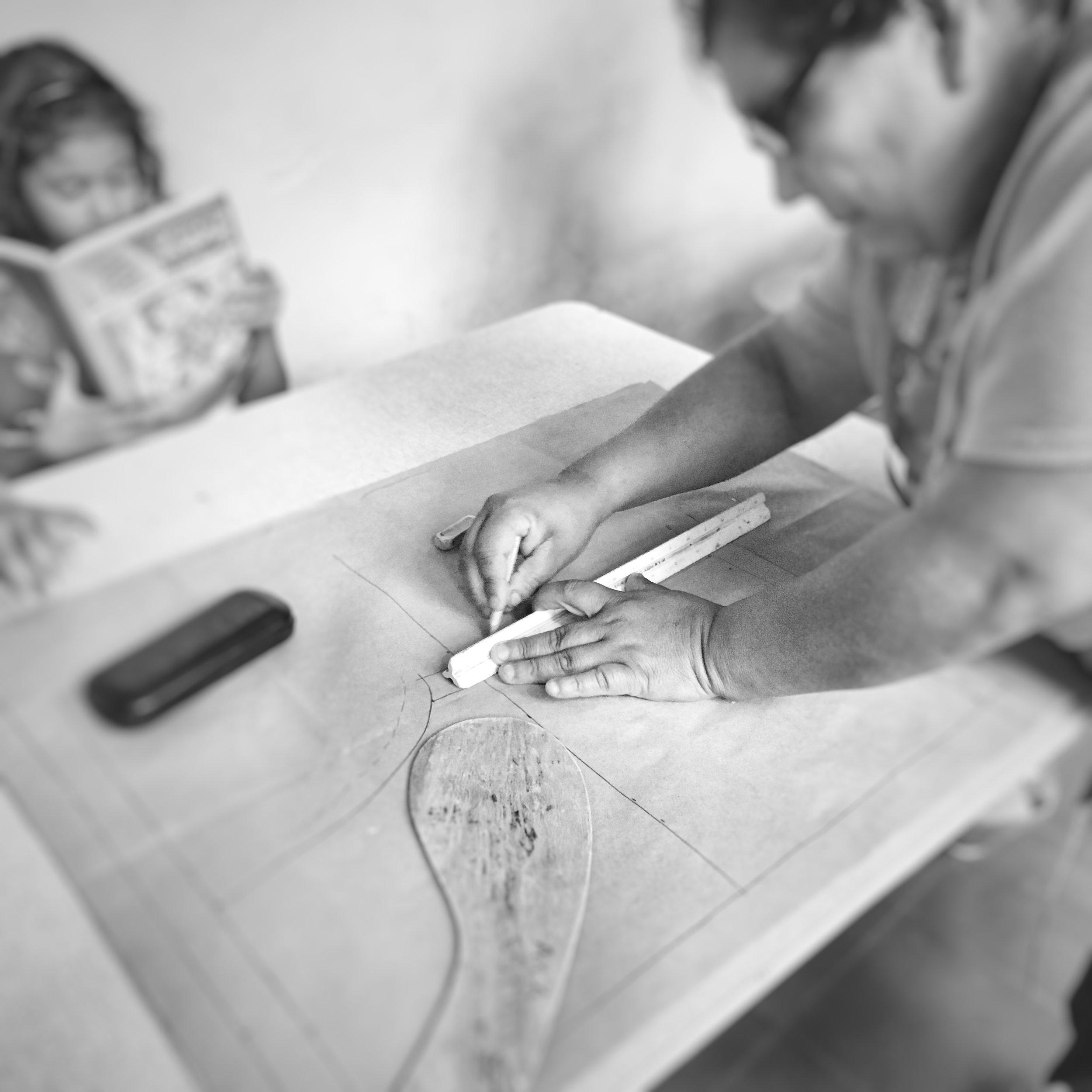 Grandmother making patterns.jpg