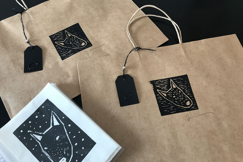 Linoprints Bags-Cards-Zo Damage.jpg