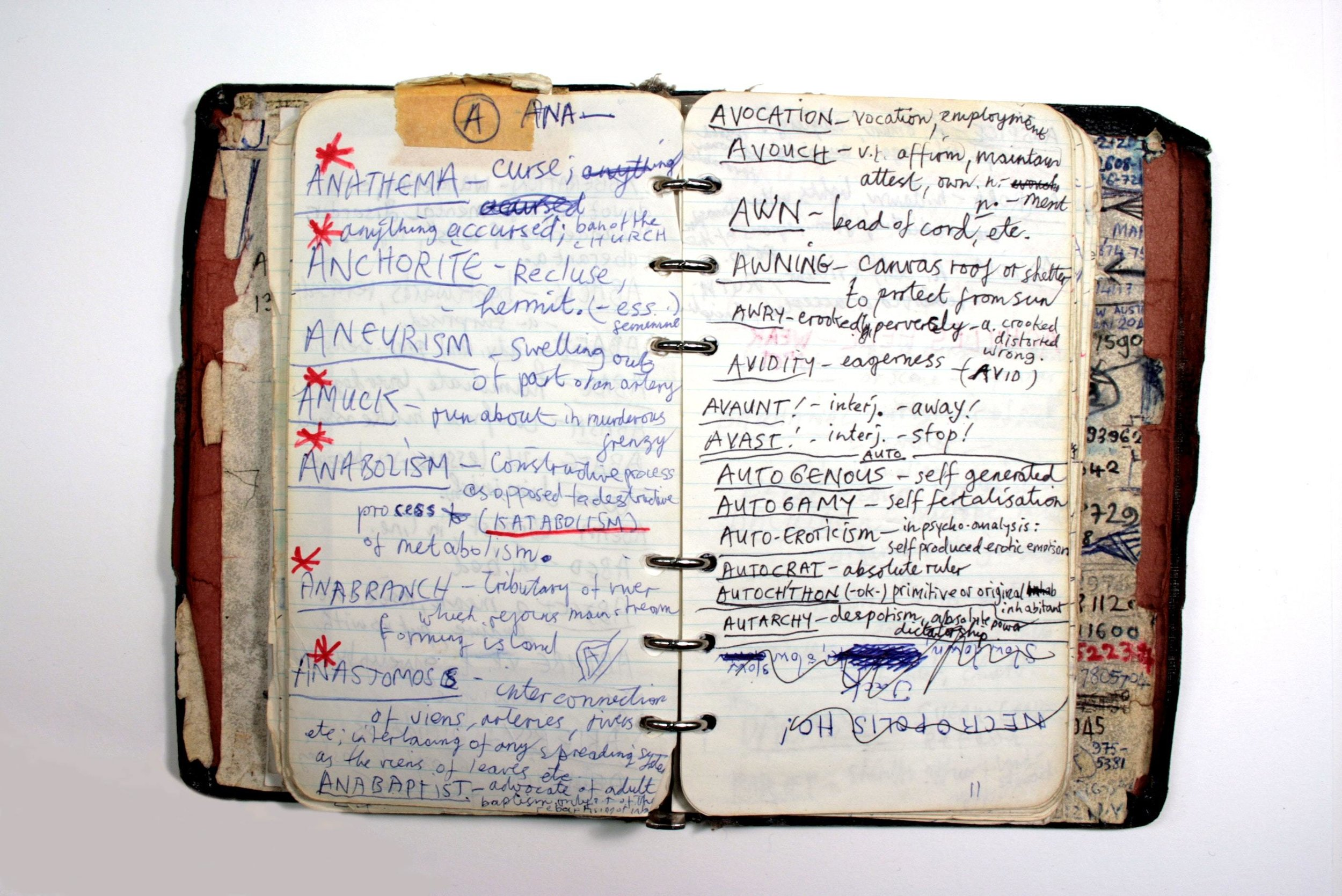 Nick Cave's notebook  Australian Music Vault, Gallery 1, Arts Centre Melbourne