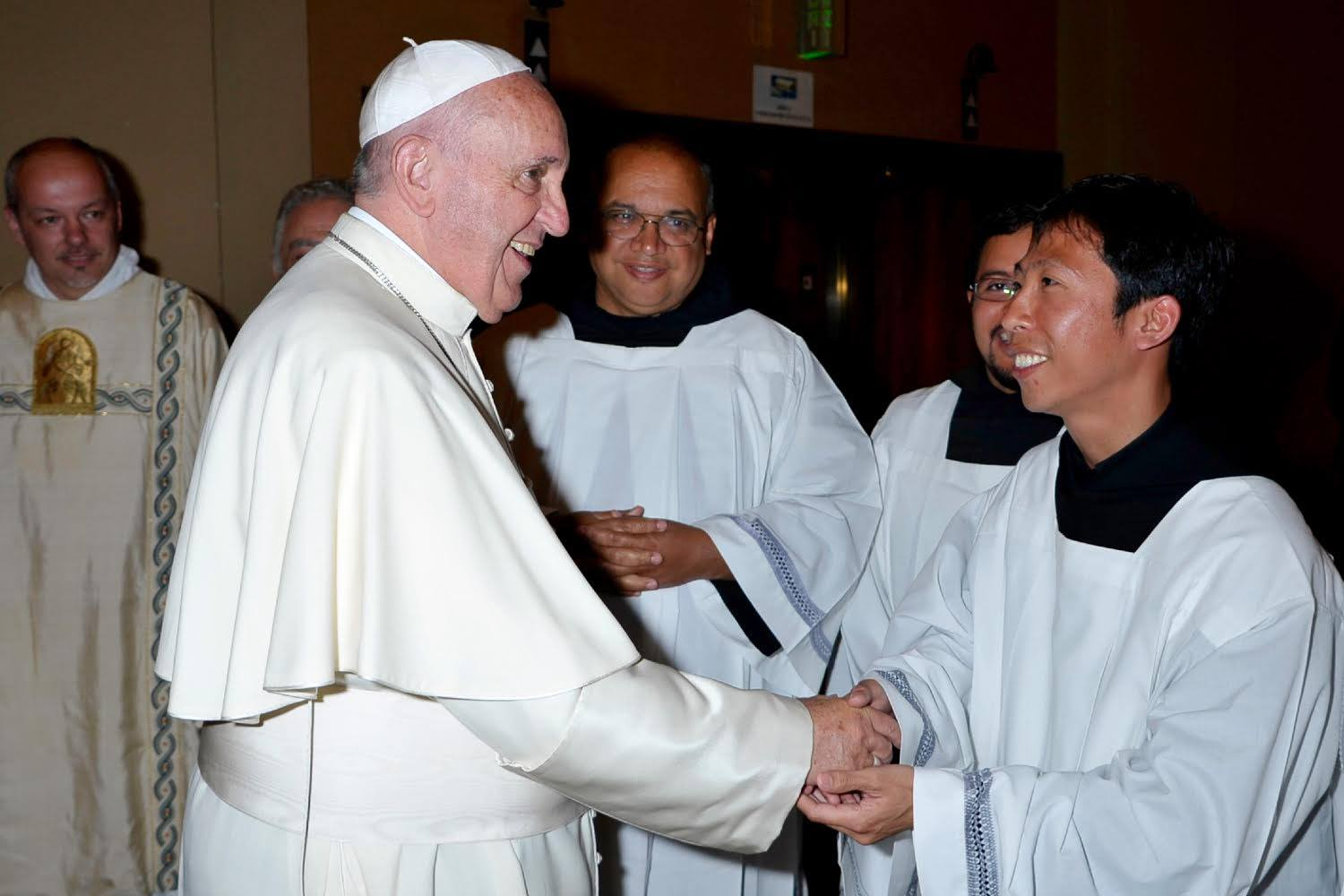 Brother Richie met Pope Francis in June 2015