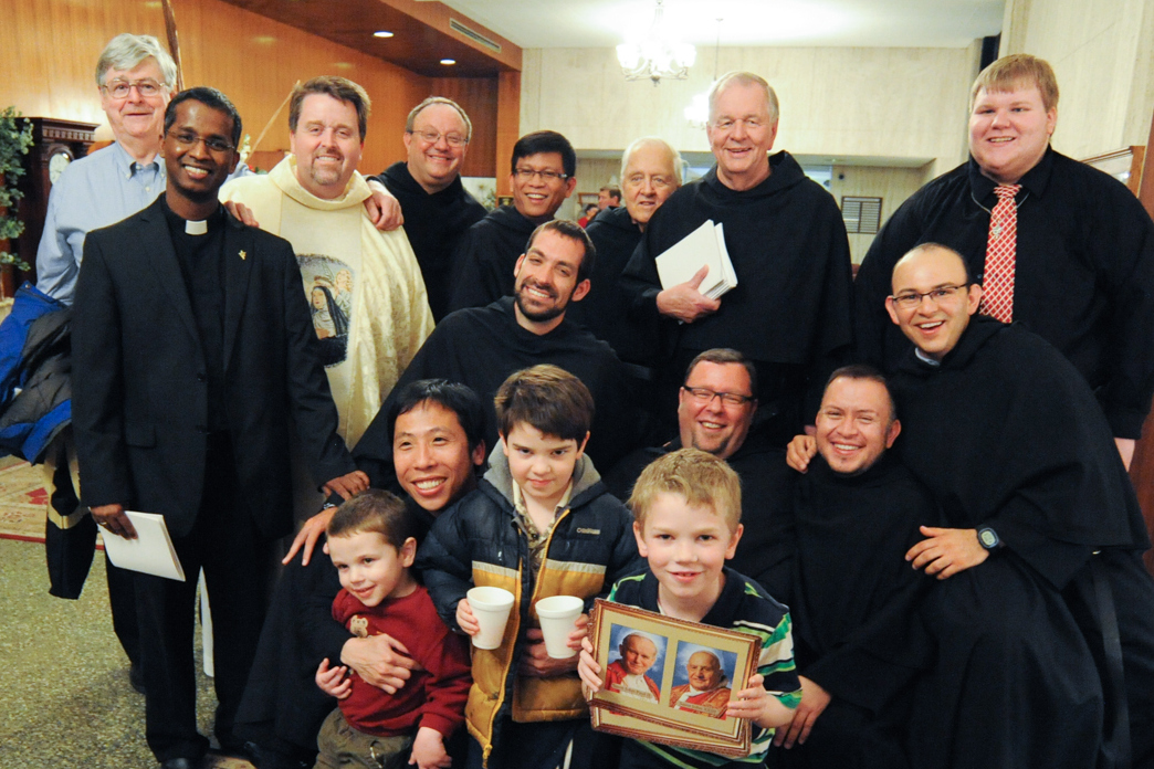 Brother Joe Ruiz, OSA  (bottom right)  with other Augustinians after Mass held at St. Rita Shrine Chapel in Chicago