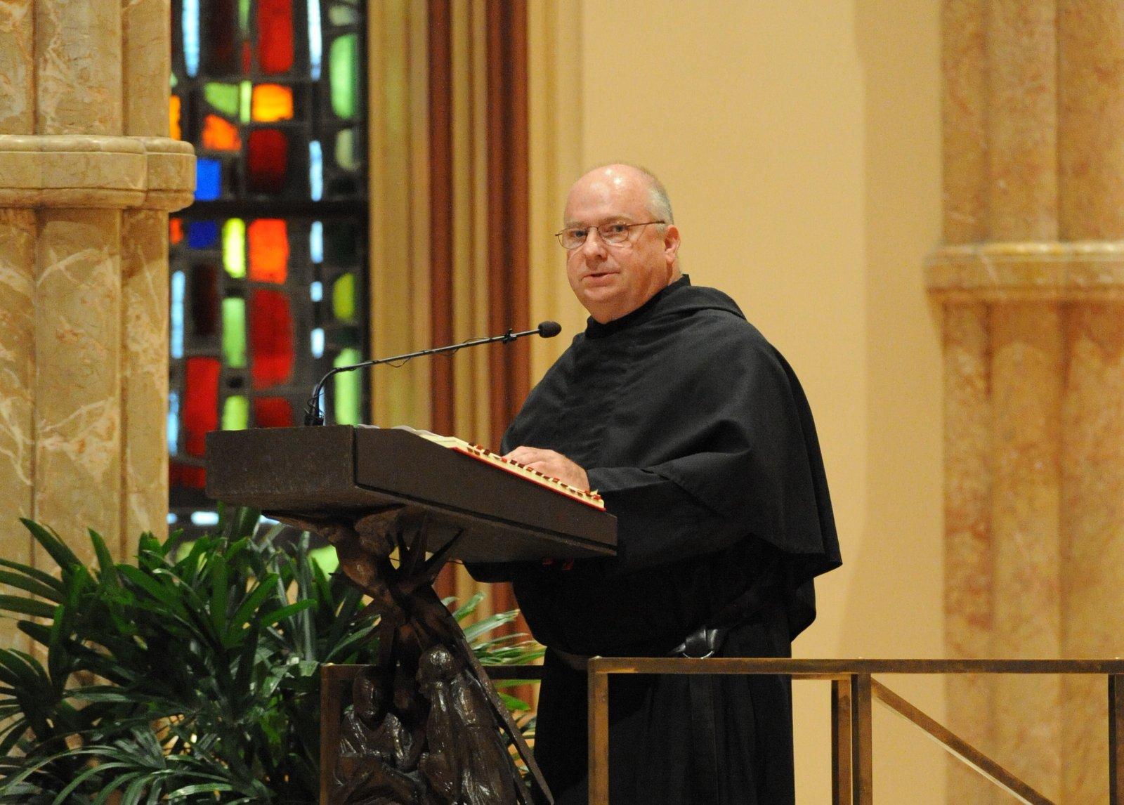 Brother Jack Hibbard, OSA at Holy Name Cathedral