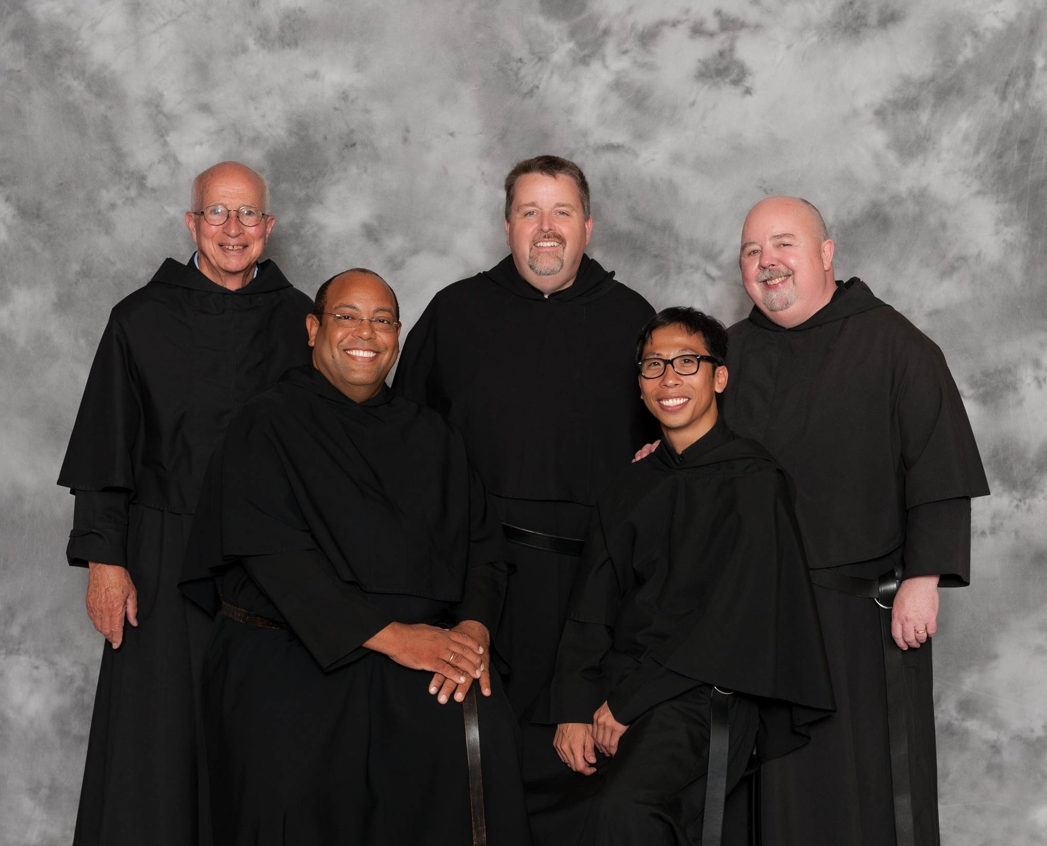 """The Vocations Team for the Augustinians, building a """"Culture of Vocation"""" across the United States in Canada includes  (from left) Fr. Thomas Whelan, O.S.A.; Fr. Jorge Cleto, O.S.A.; Fr. Tom McCarthy, O.S.A.; Fr. Richie Mercado, O.S.A.; and Fr. Joe Murray, O.S.A."""