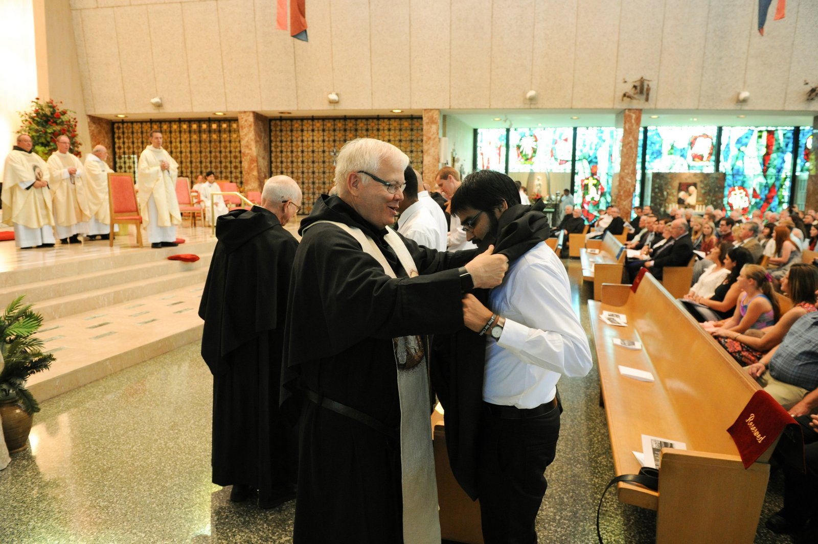 Vestiture of newly professed