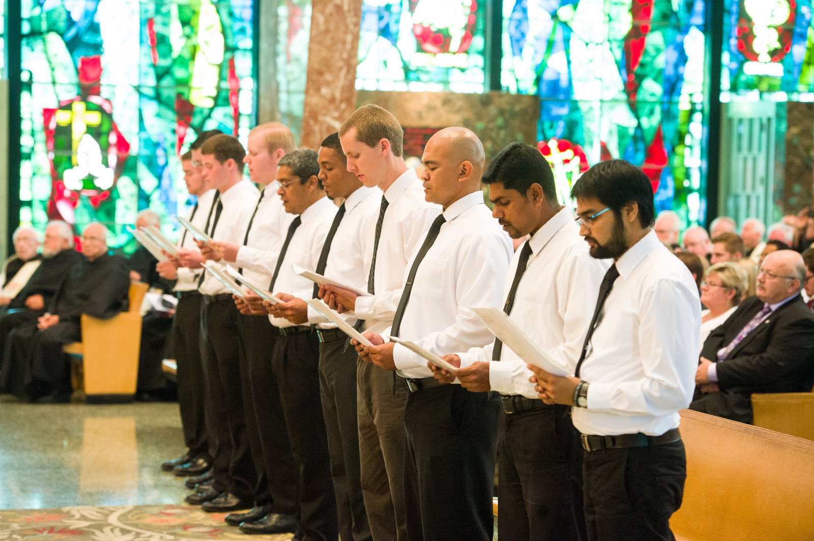 The ten men prepared to profess vows (one professed his later in his home country of Japan)