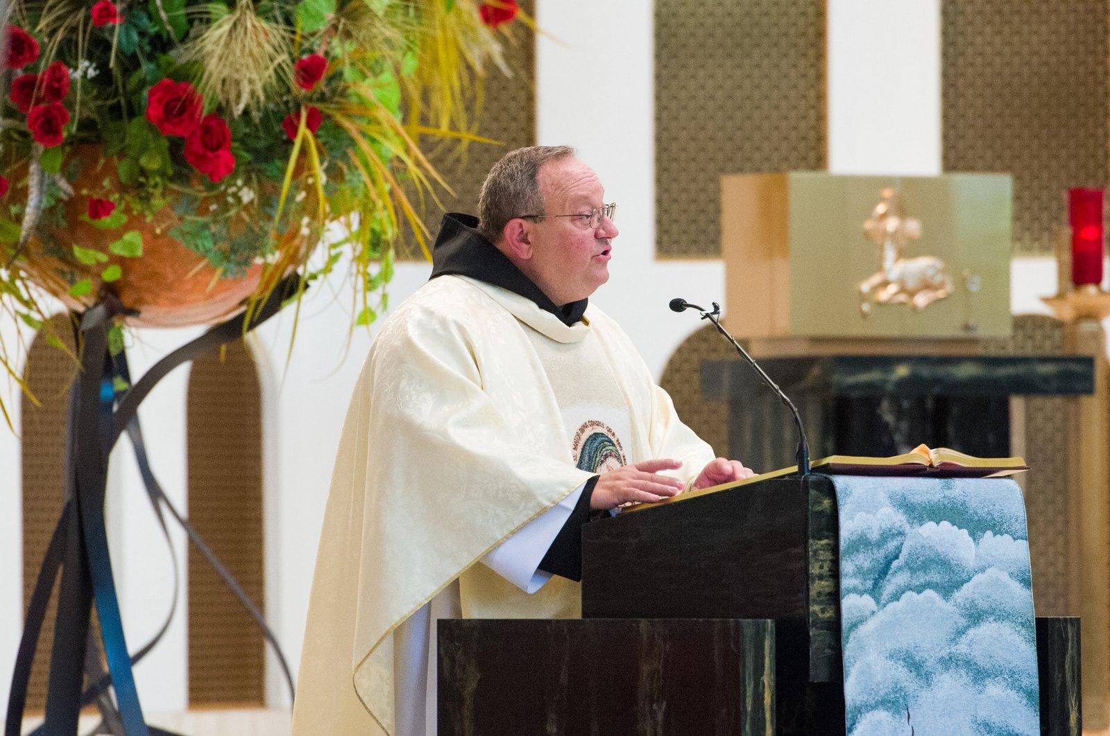 Fr. Bernie Scianna OSA delivers Homily