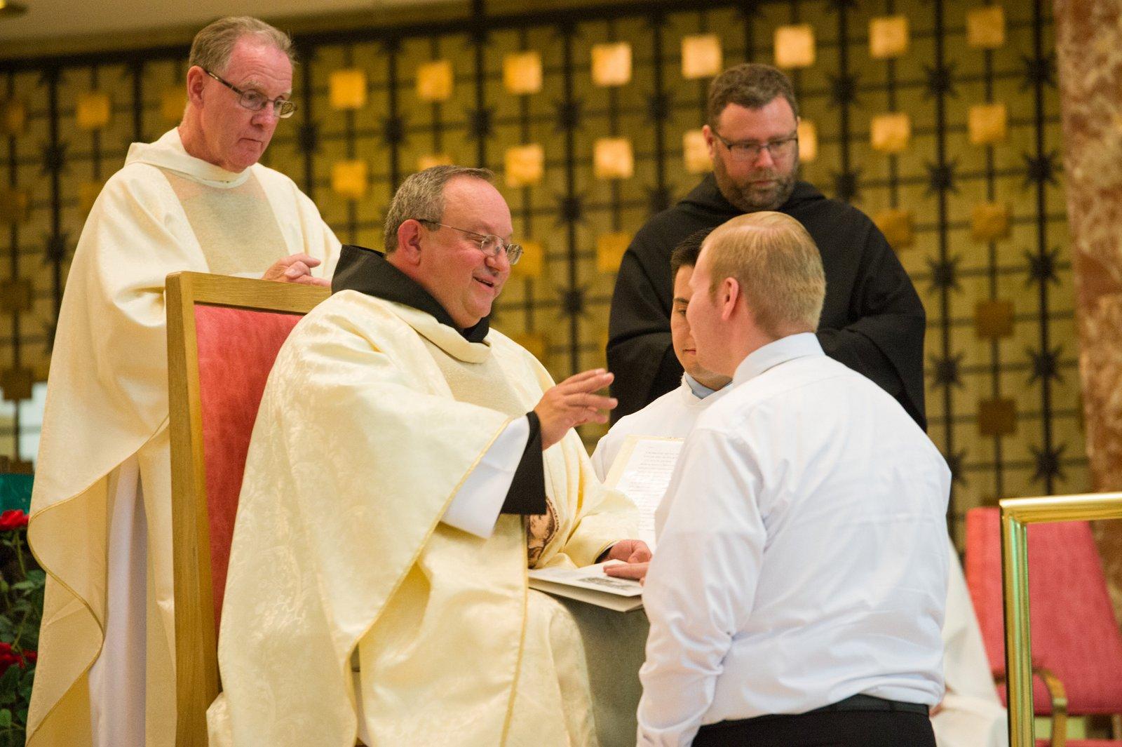 Joe Roccasalva professes his first vows