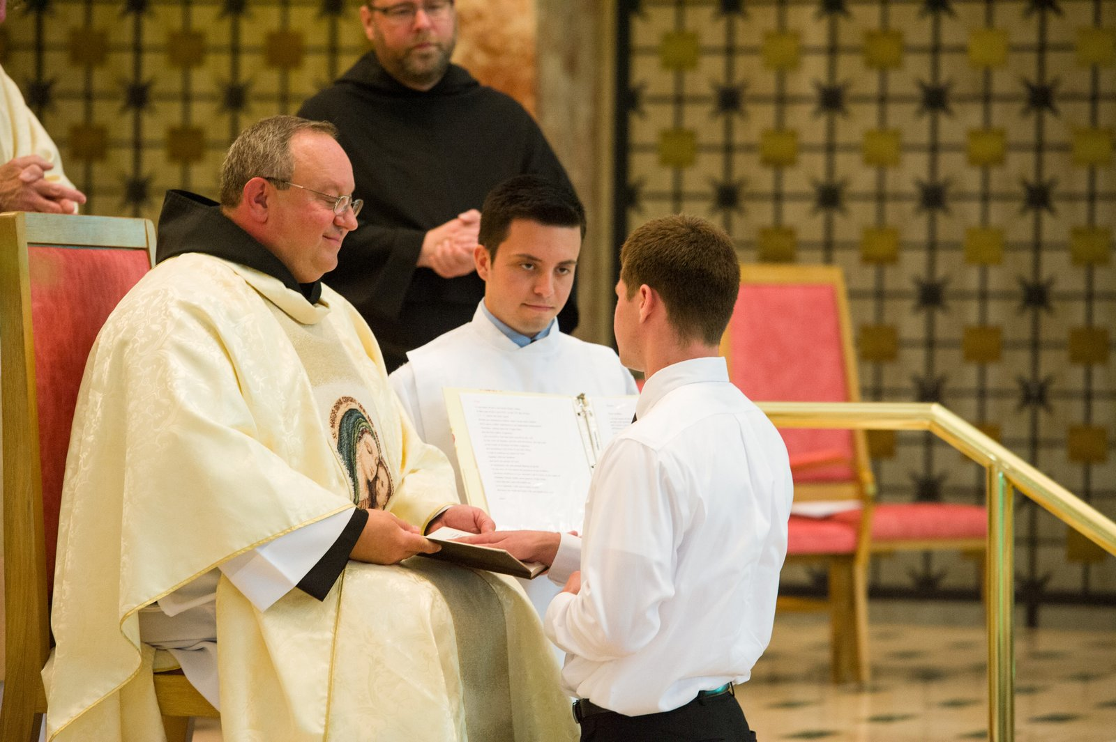 Sam Joutras professes his first vows