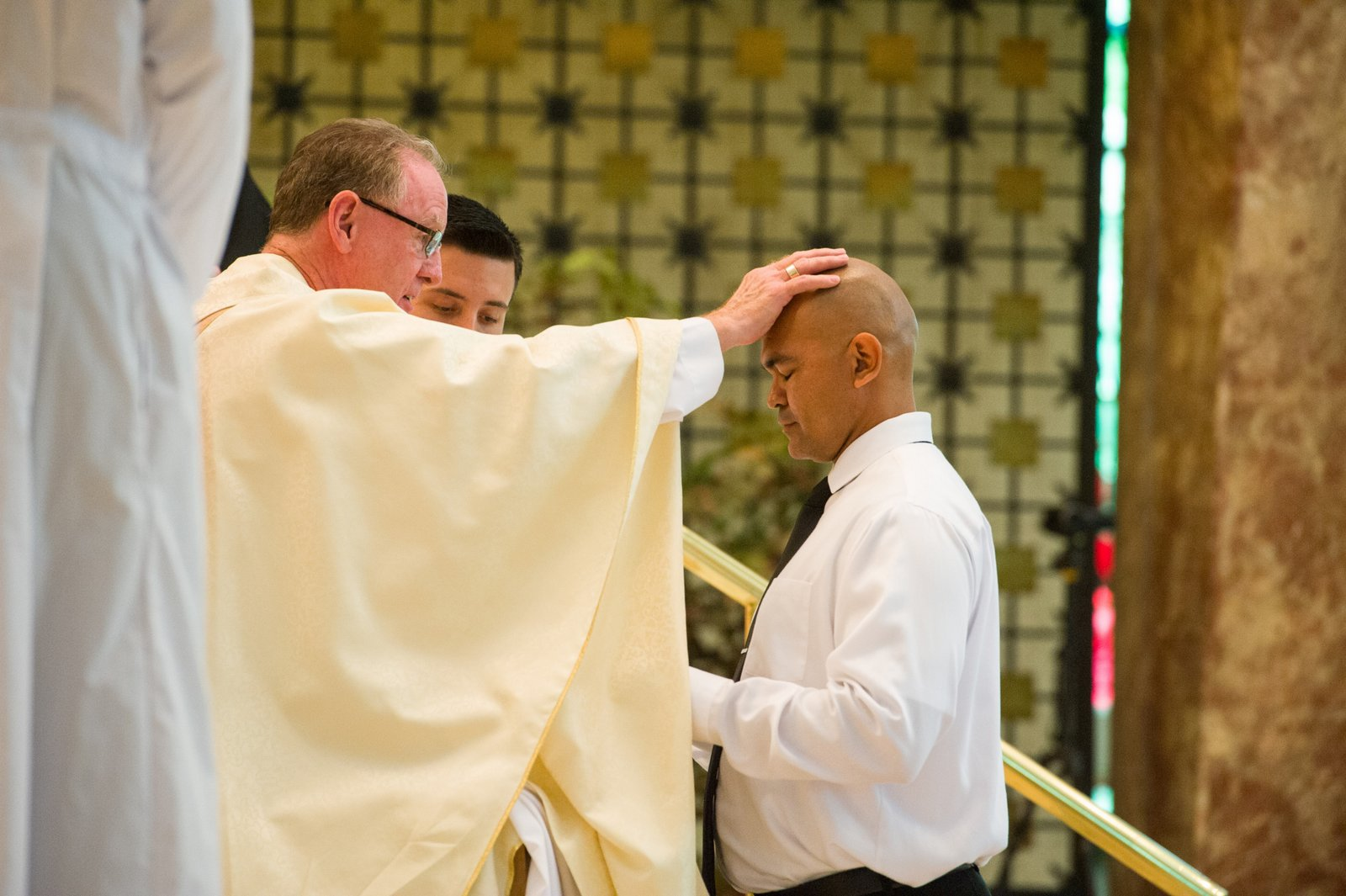 Dominic Smith professes his first vows