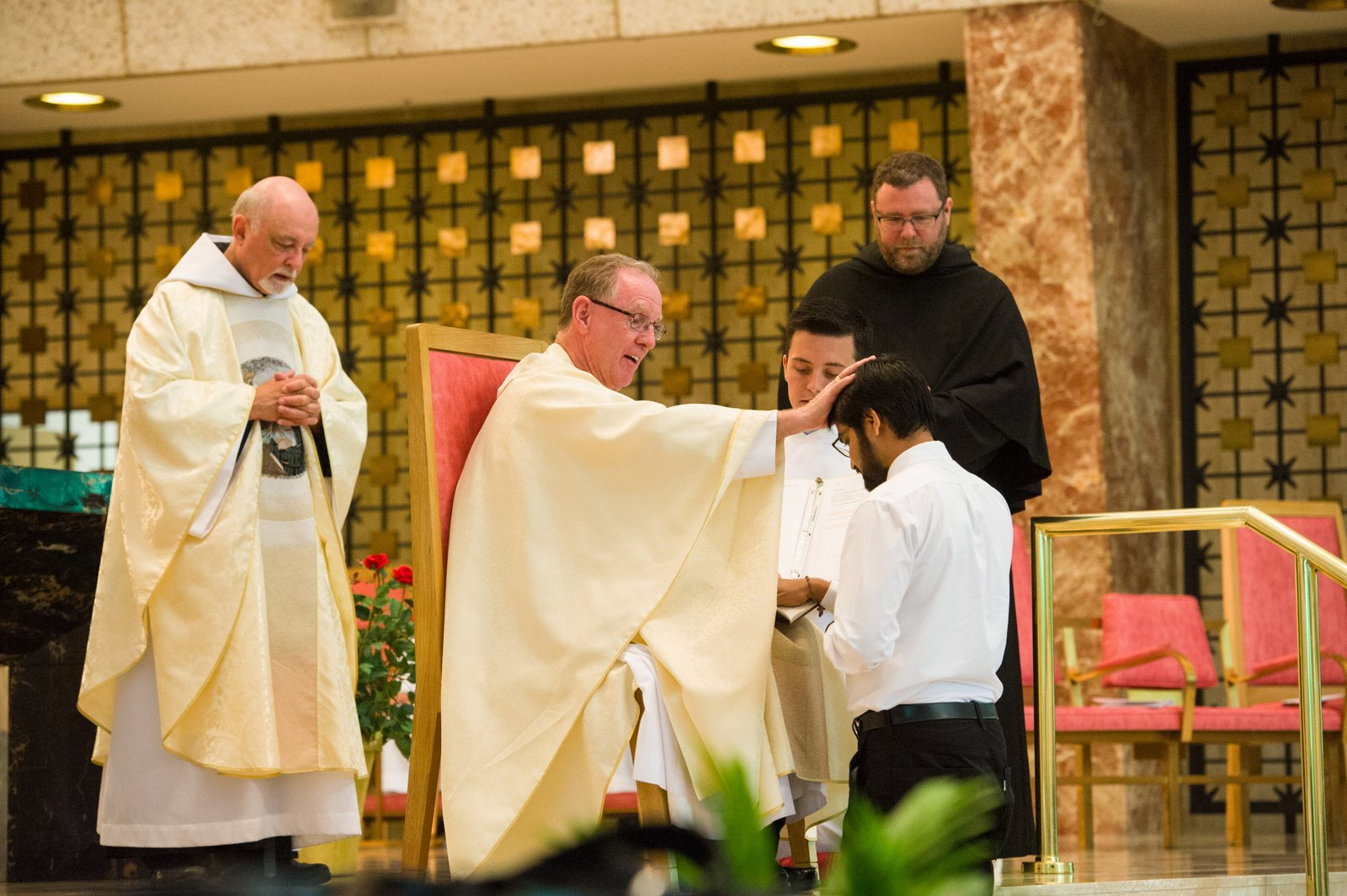 Adnan Ghani professes his first vows