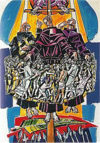 Depiction of Saints Liberatus, Boniface, and other Augustinian martyrs of Africa