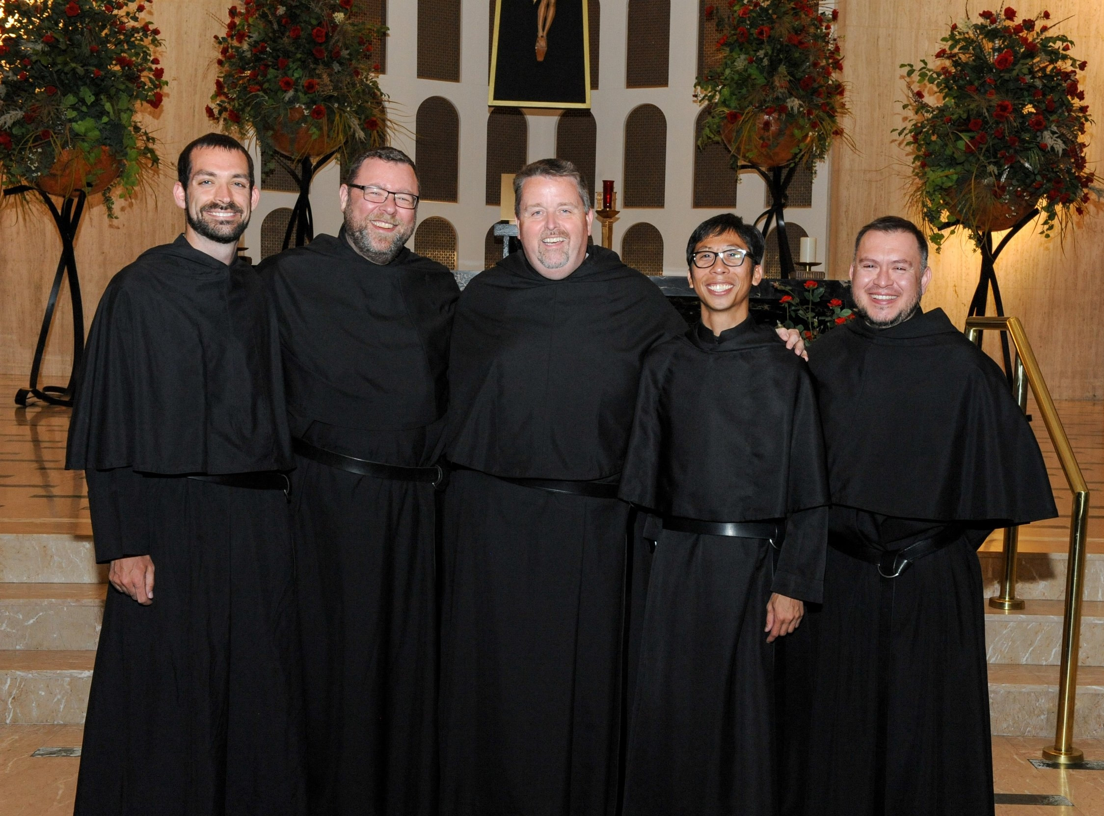 Whether or not if an Augustinian is a priest or a lay brother, all share the same black habit once they profess their first vows