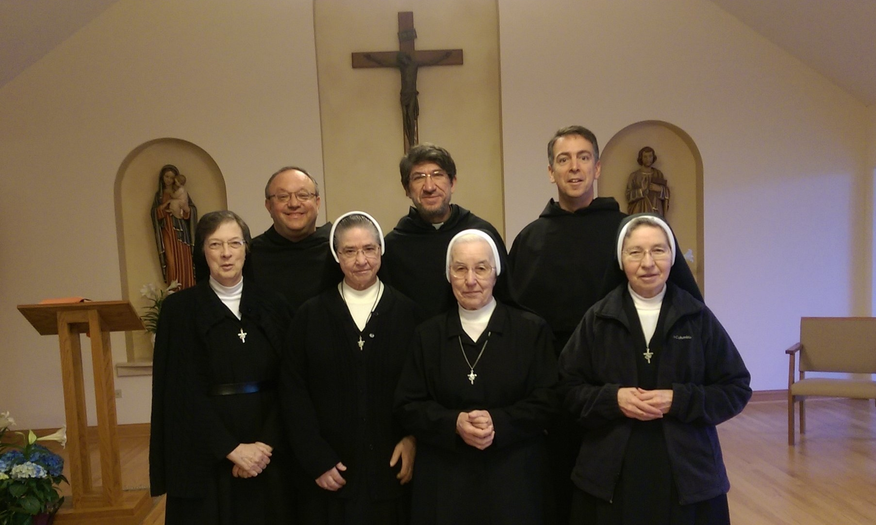 The Augustinian Nuns in New Lenox, Illinois, visited by the Prior General in April, 2015