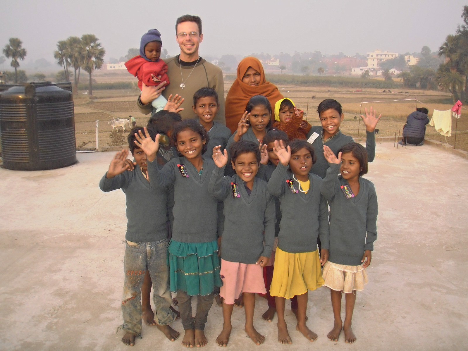 Br. Baiocco at Children's Home in India