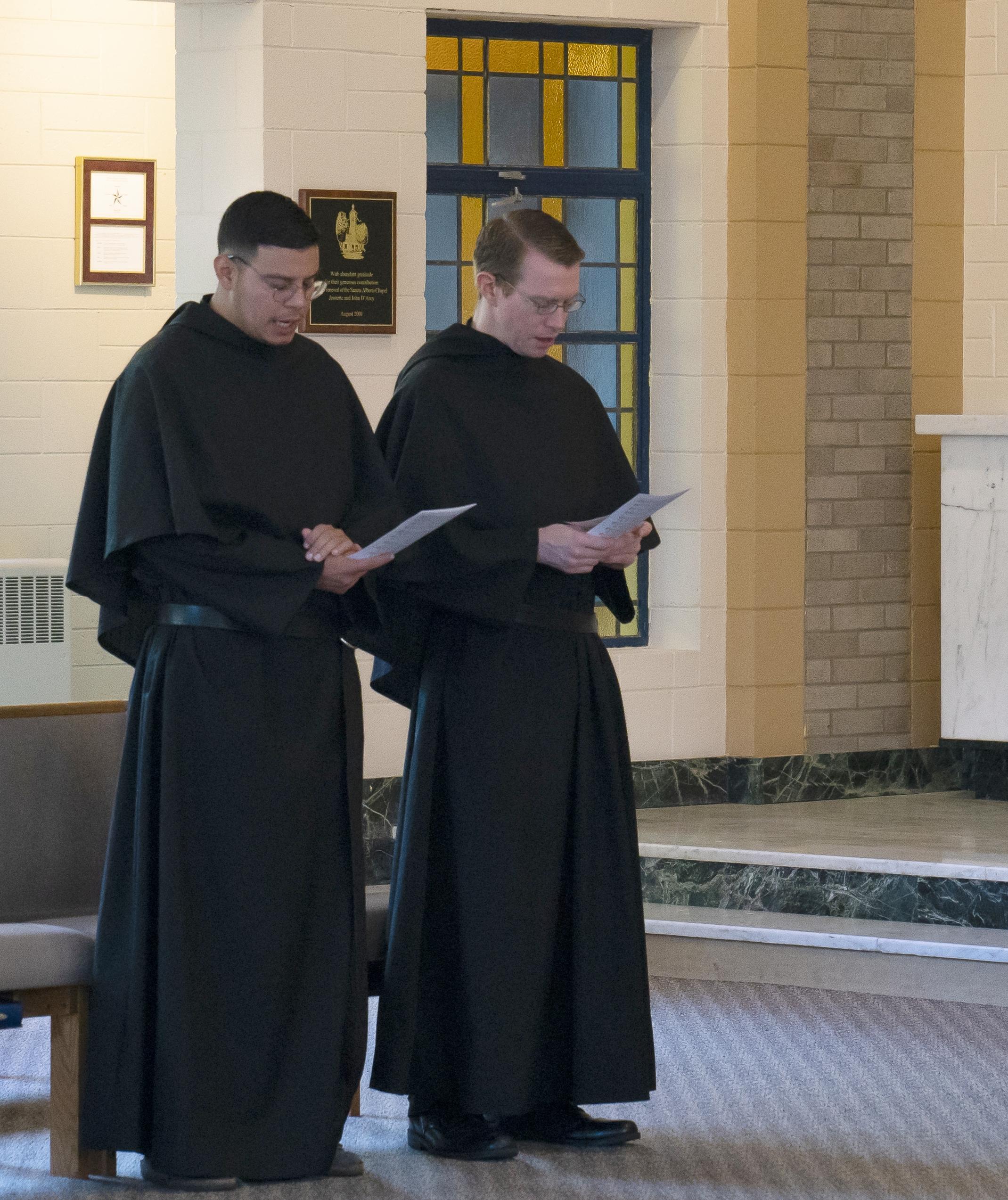 Br. Mauricio Morales and Br. Nicholas Mullarkey