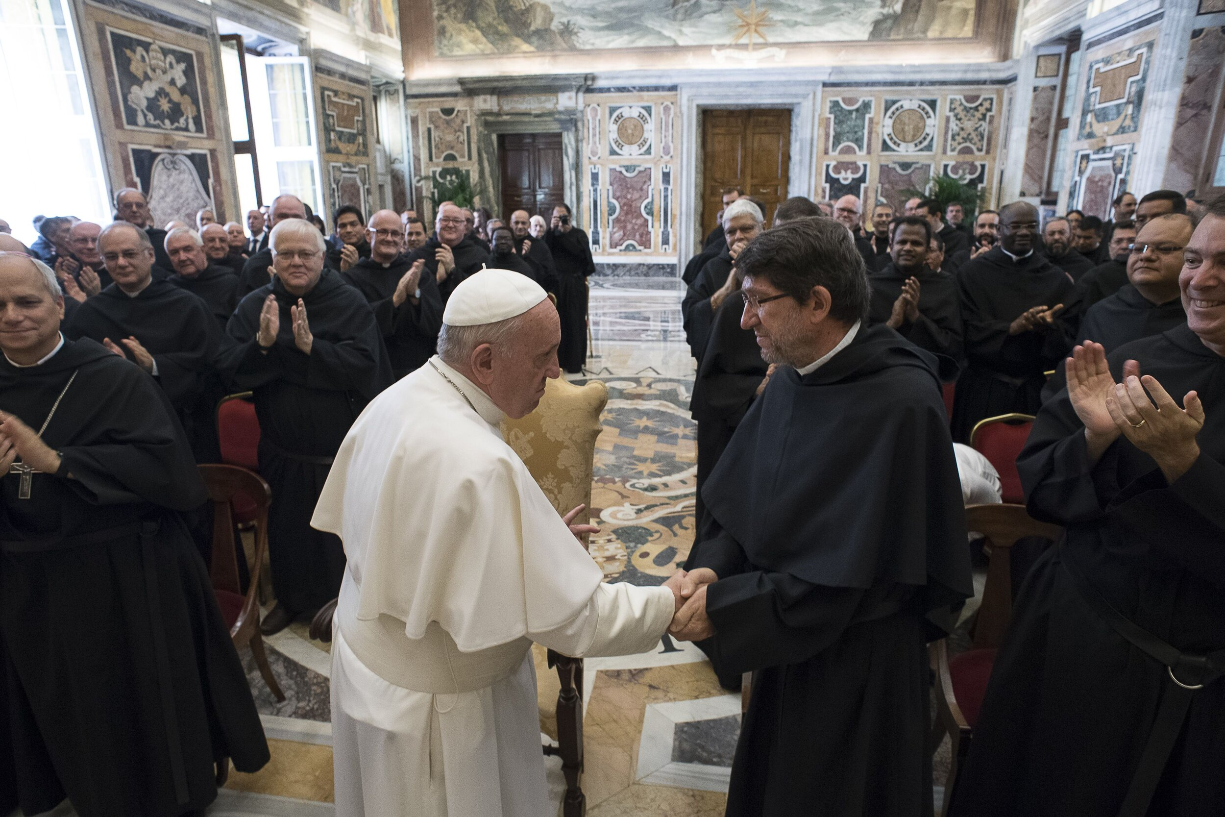 Pope Francis Address the Augustinians