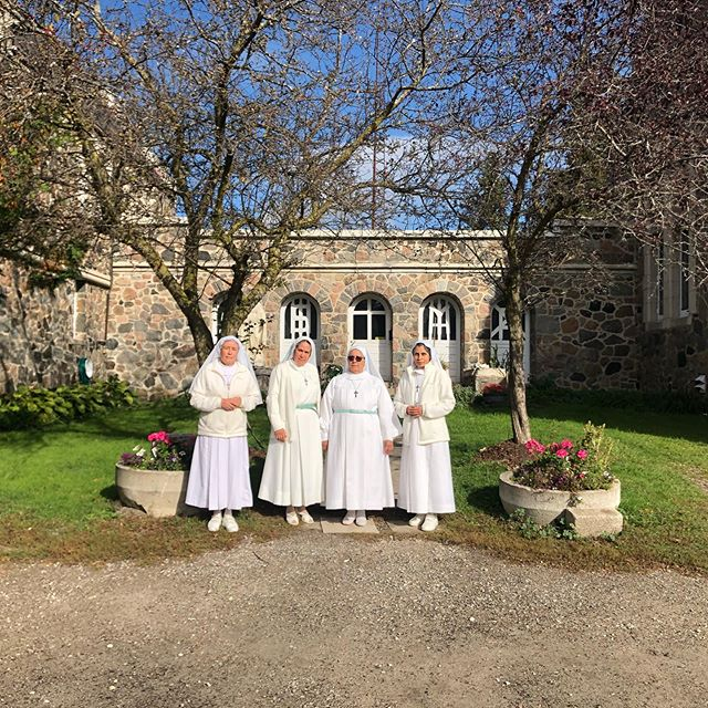 The Augustinians sisters at the Marylake Shrine in Ontario Canada. This community moved from Mexico to Canada over 40 years, when the Augustinian friars lived as farmers here. #augustinians #nuns #sisters #sisterhood #vocations #catholic #christian #jesus #augustine