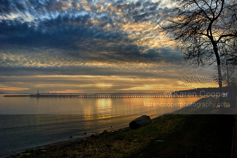 """White Rock Pier at Sunset"""