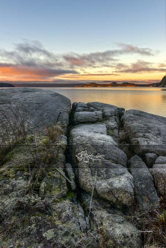 Rocks at Sunrise, Saltery Bay, BC