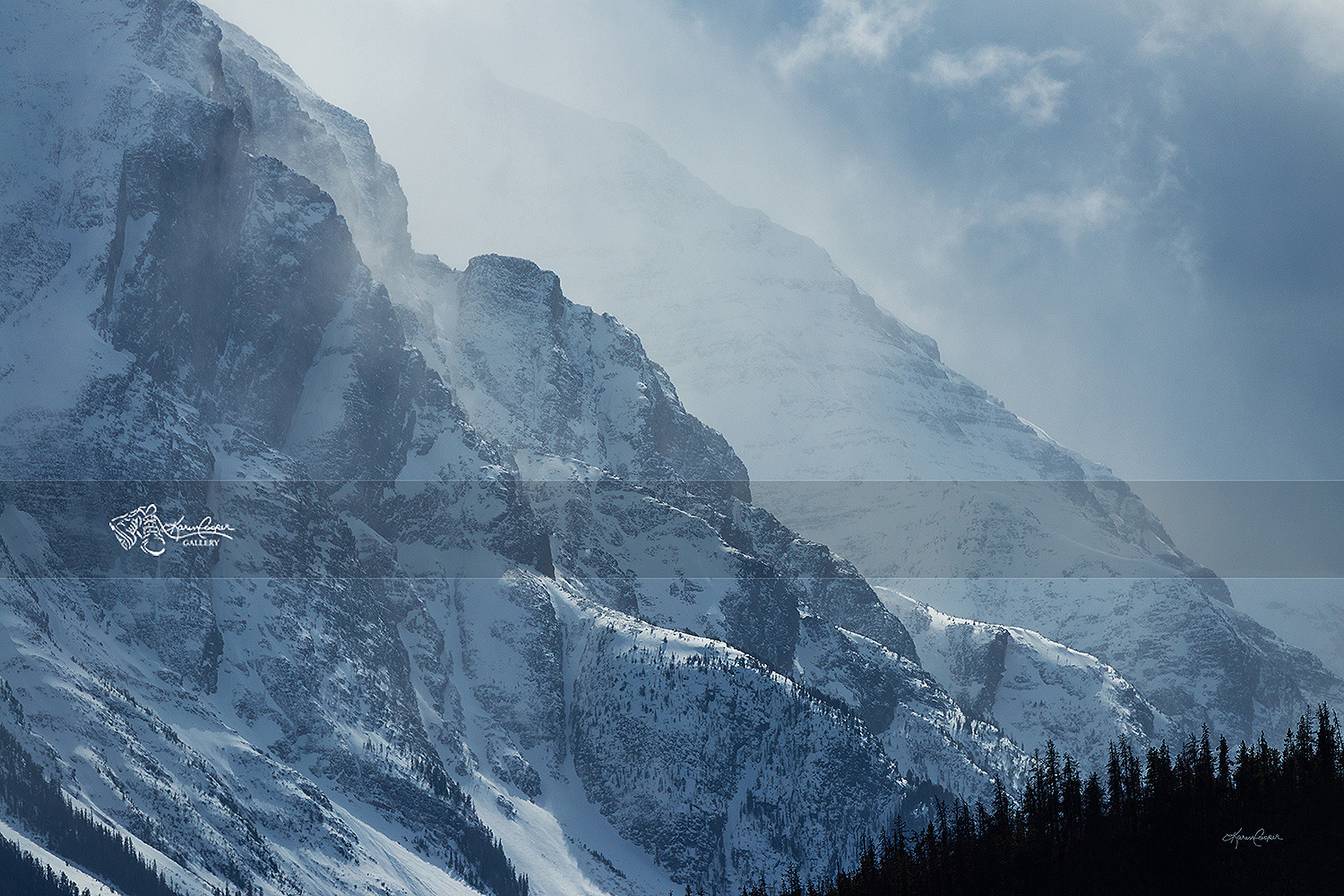 Mount Athabasca Snowstorm