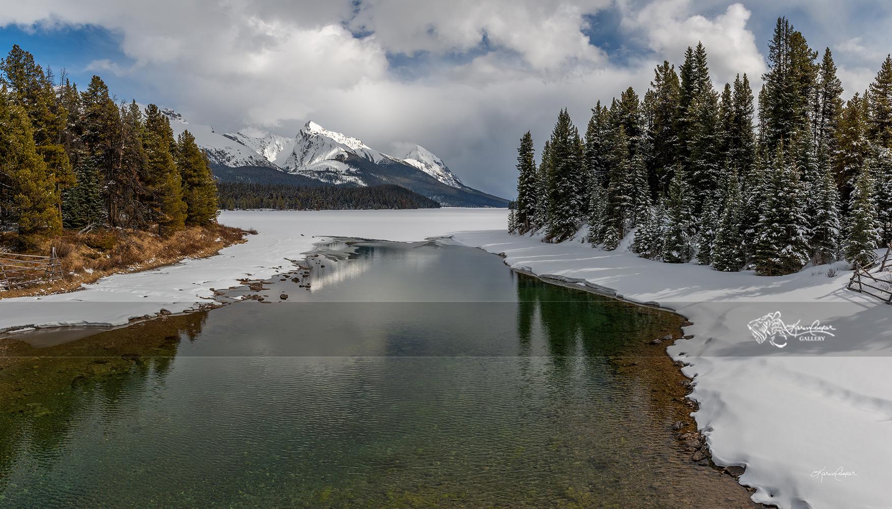 Maligne Lake in Springtime